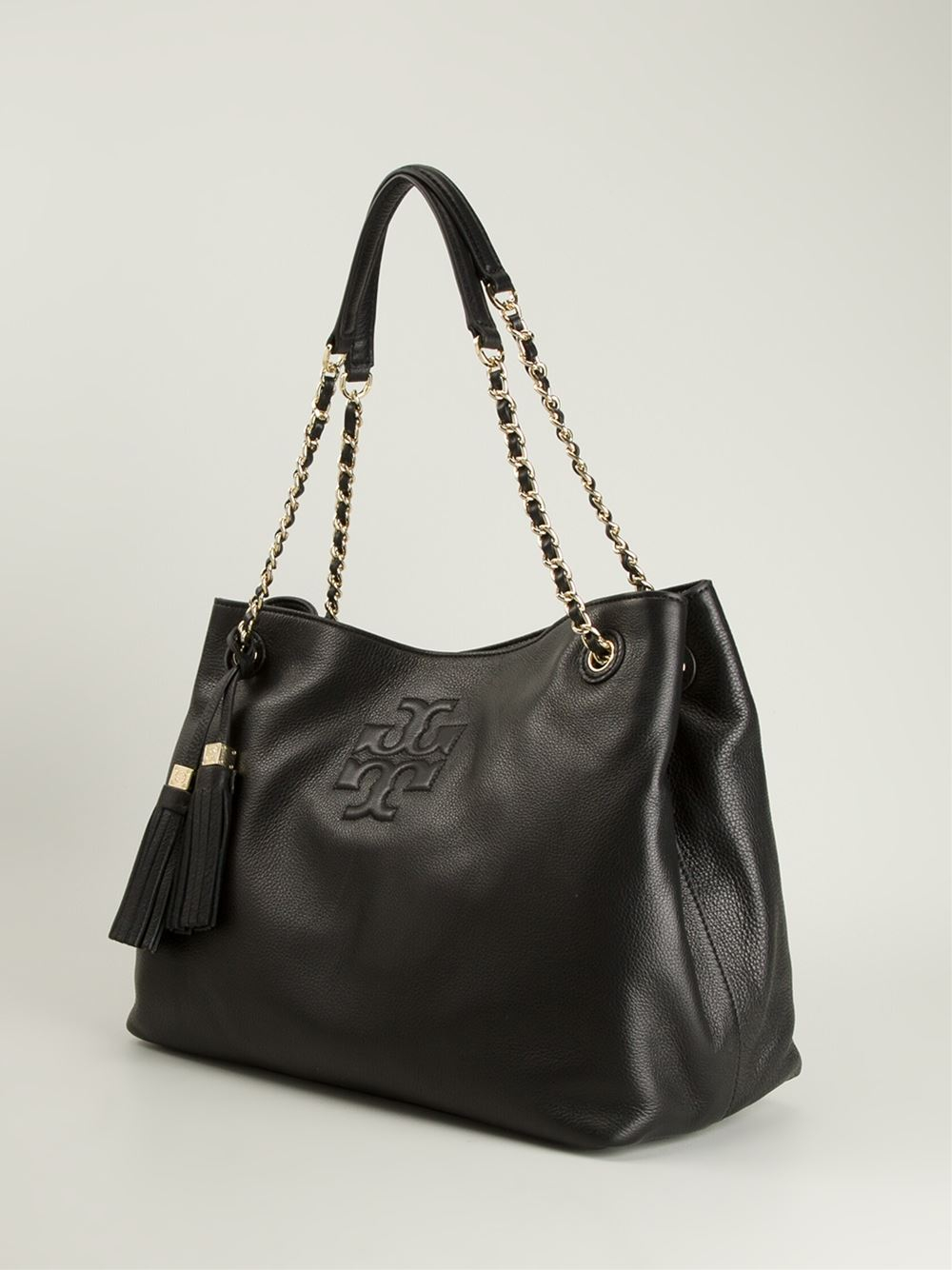 84d31747ade0 Lyst - Tory Burch Thea Chain Strap Tote in Black