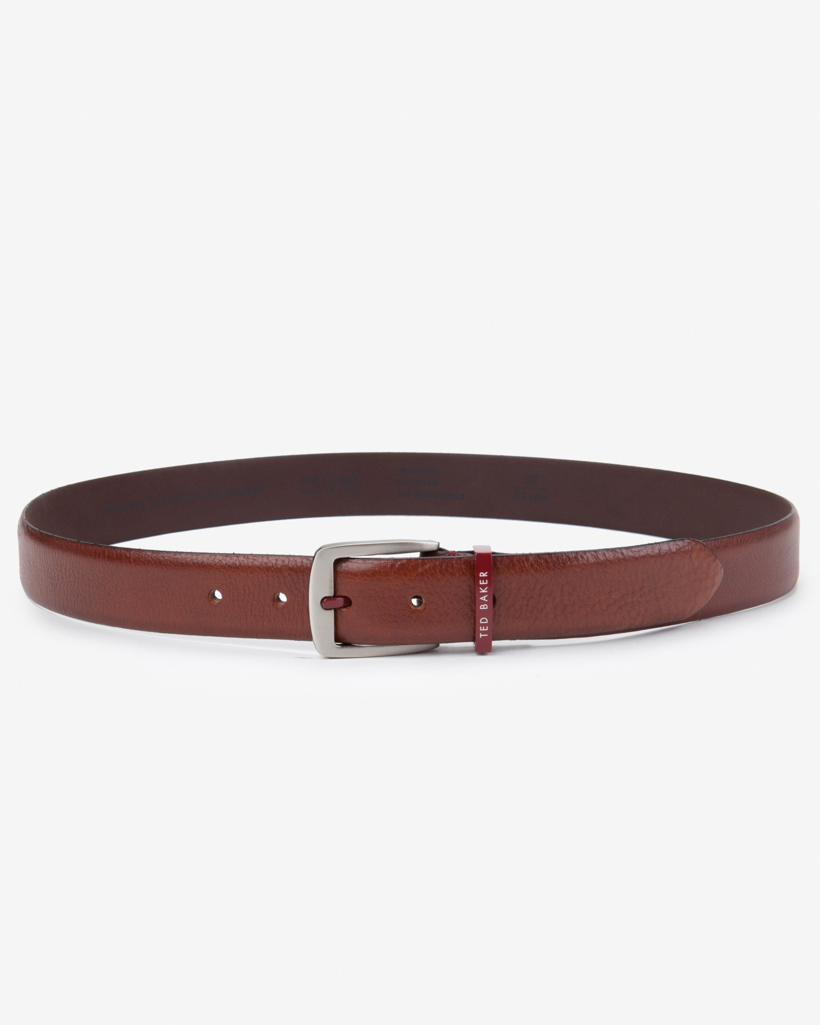 ted baker buckle belt in brown for lyst