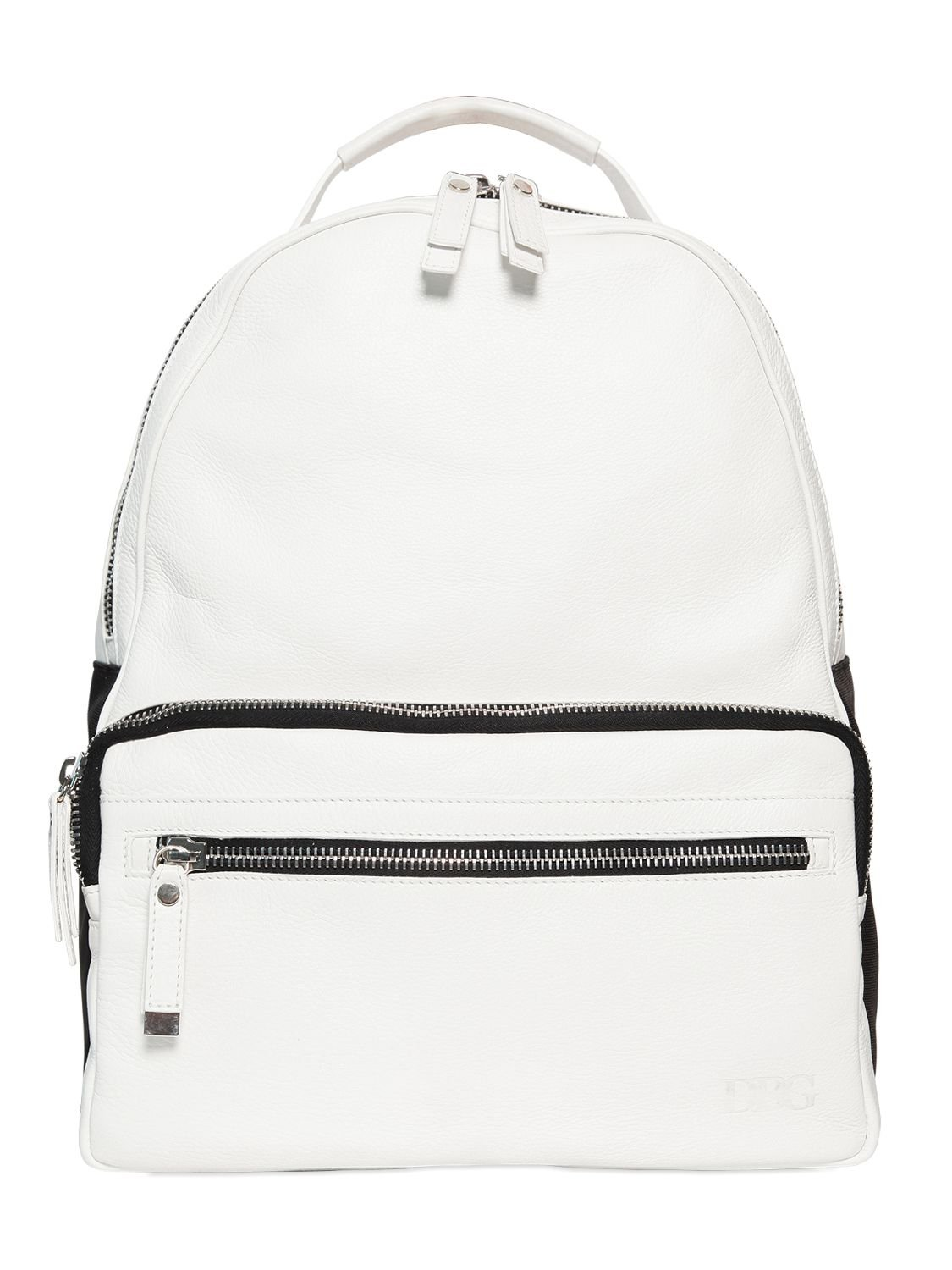 0492e846d80d Black And White Backpack Leather - BD Fabrications