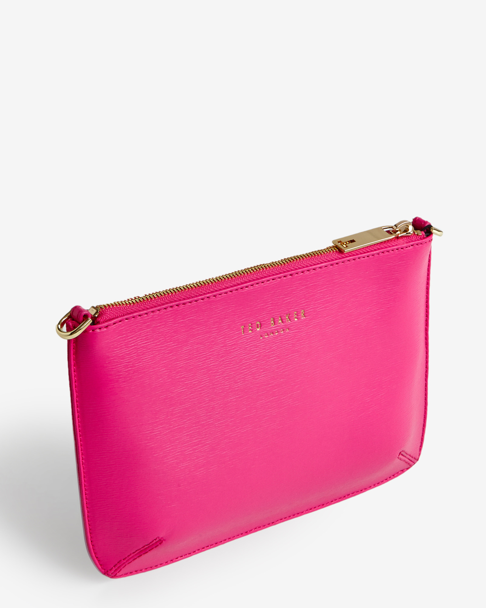 Ted baker Crosshatch Clutch Bag in Pink | Lyst