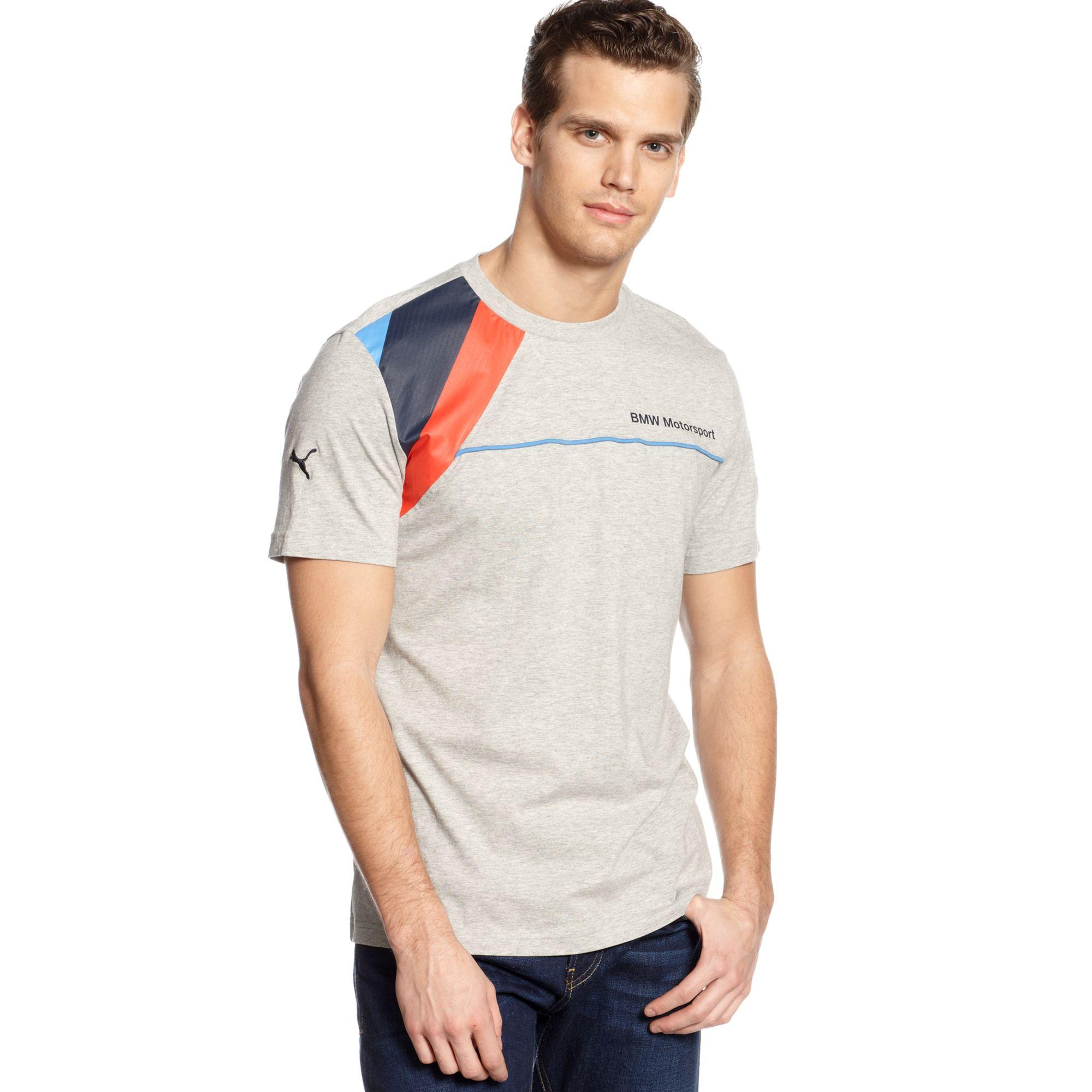 b4c0c051 PUMA Bmw Tshirt in Gray for Men - Lyst