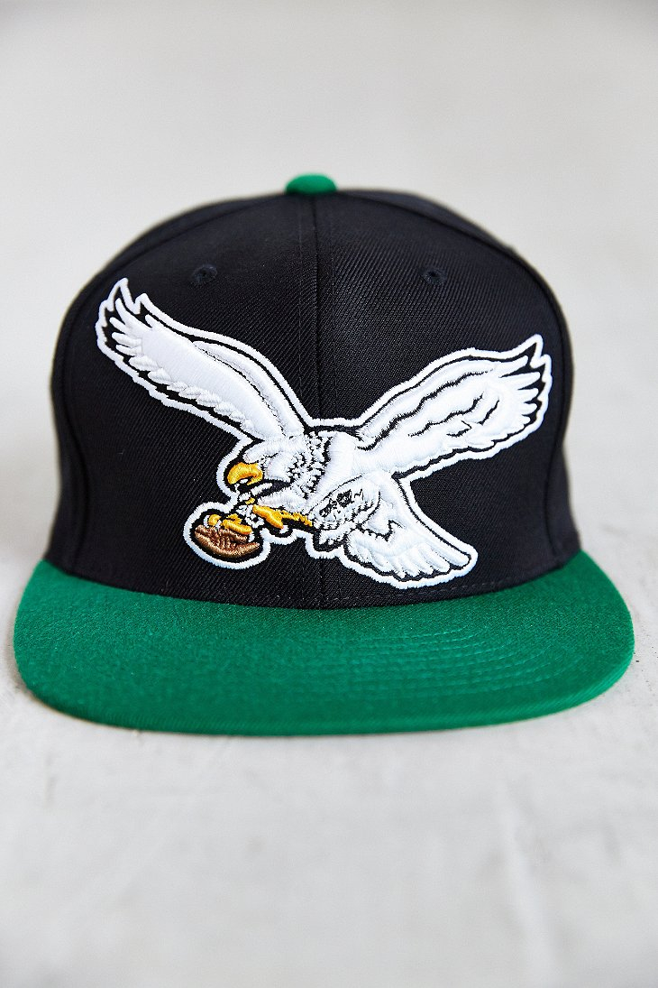 c340e2d937c Lyst - Mitchell   Ness Eagles Nfl Xl Logo Snapback Hat in Black for Men
