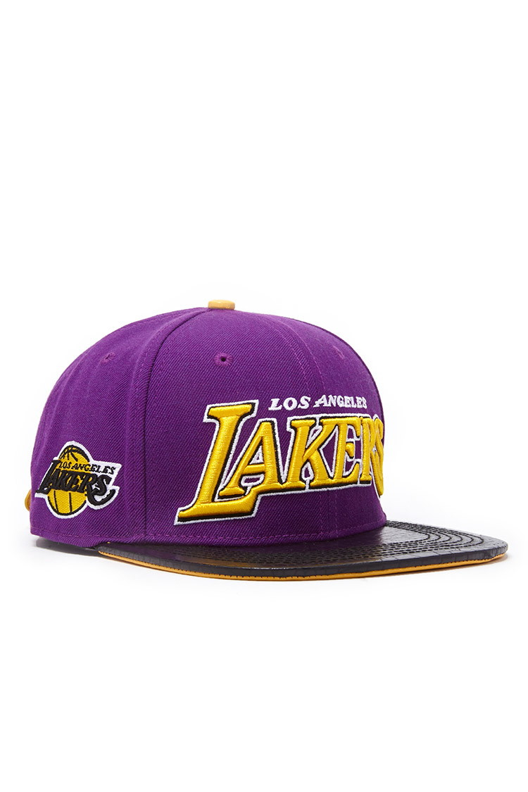 Lyst - Forever 21 Pro Standard Lakers Hat You ve Been Added To The ... 12e57ae15ea