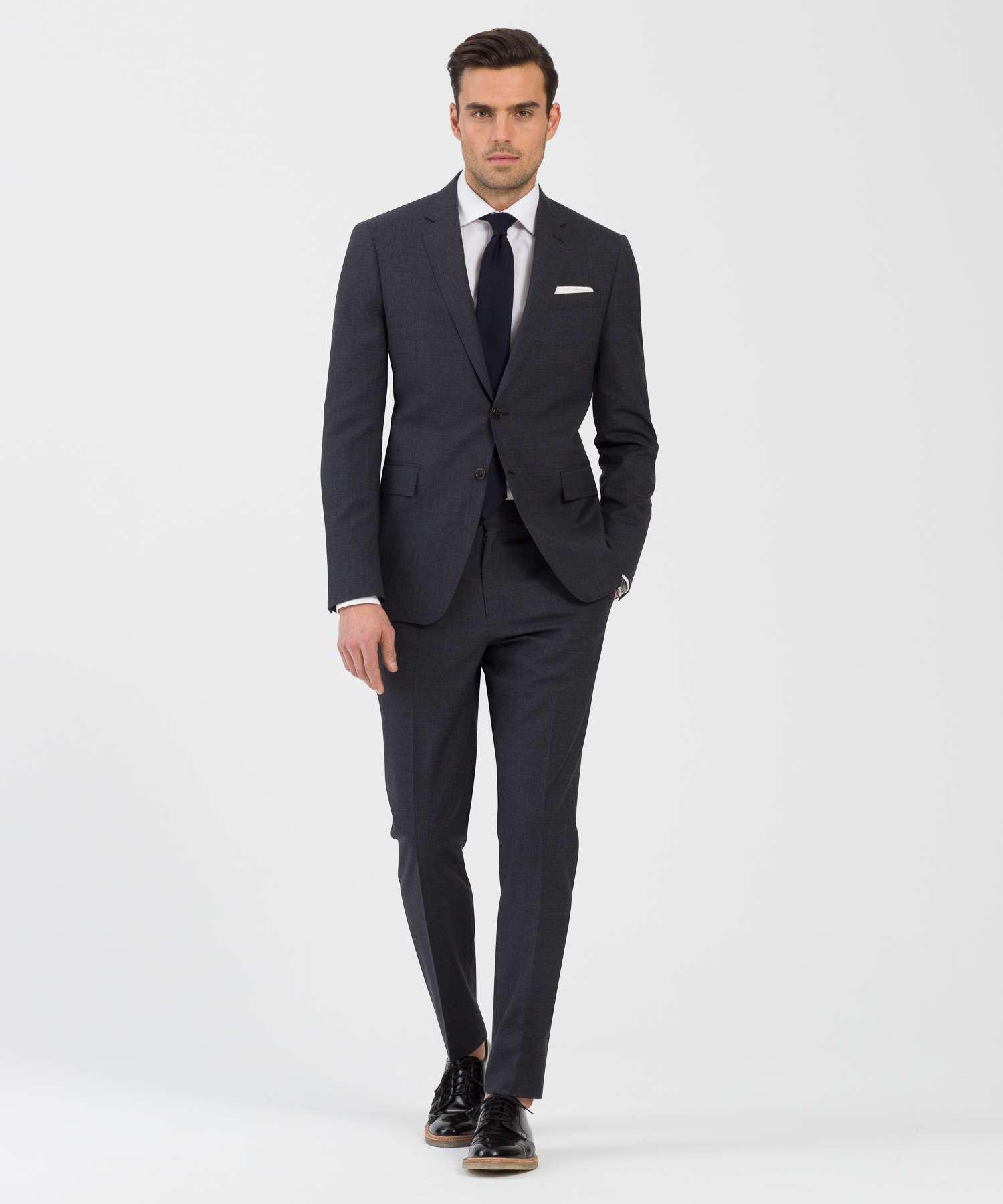 Dark Grey Plaid Suit | My Dress Tip