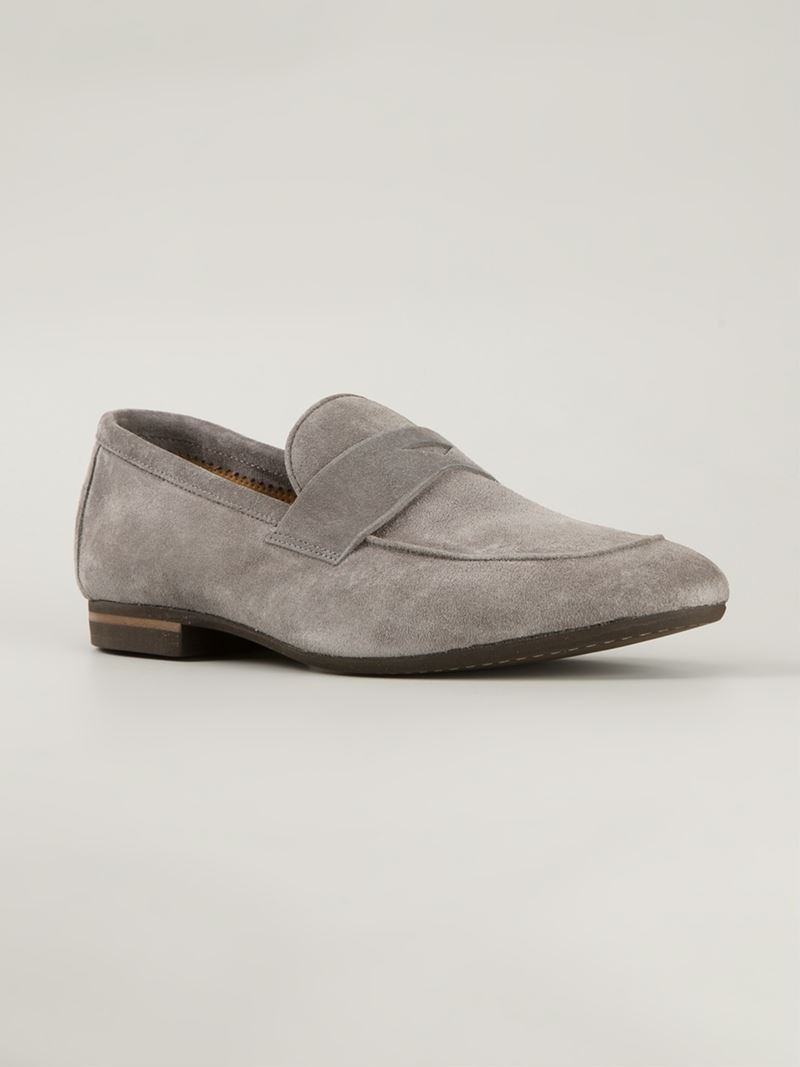 8a0e3daec52 Lyst - Henderson Penny Loafers in Gray for Men