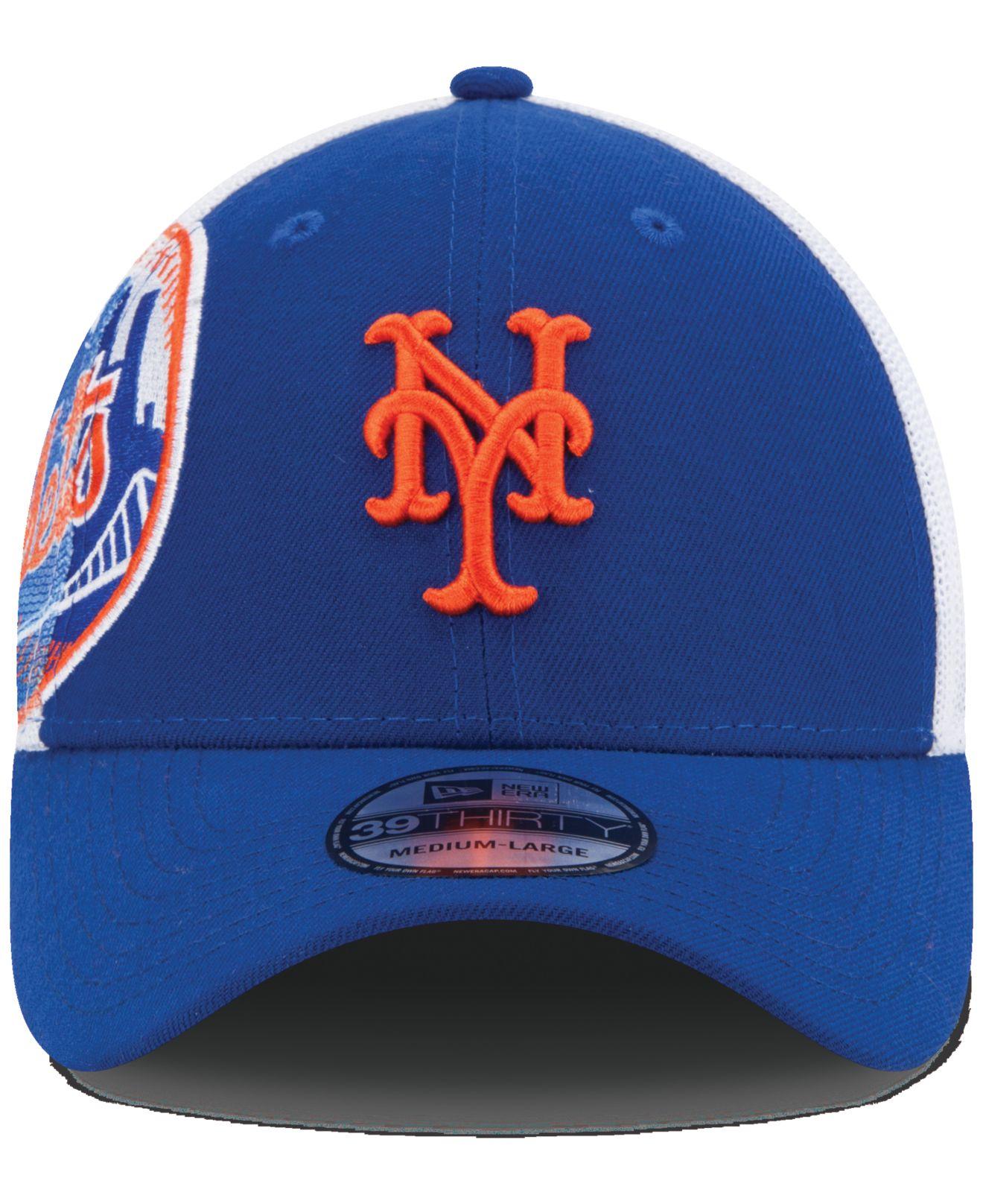 ... shopping lyst ktz new york mets double mesh 39thirty cap in blue for men  c017b d7ab7 3884f26fa0c7