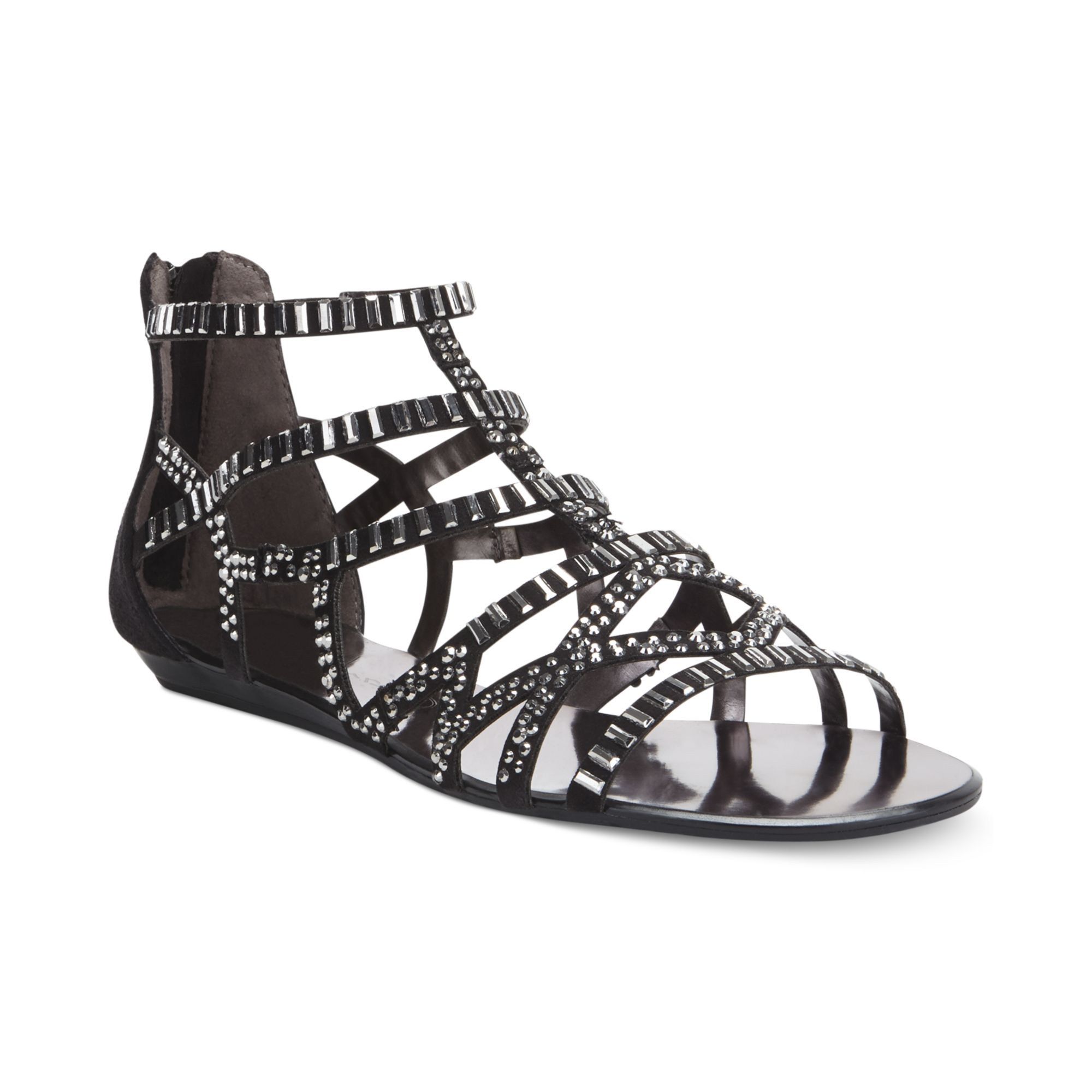 Report Leticia Gladiator Sandals In Black Lyst