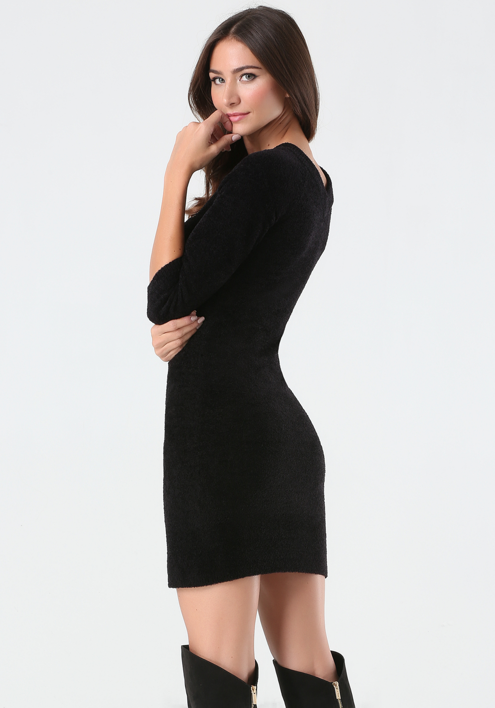 Bebe Logo Sweater Dress In Black Lyst