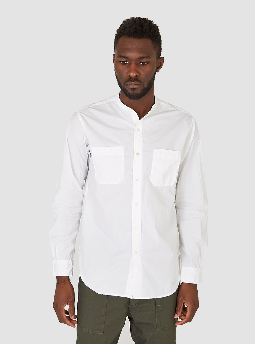 Lyst Engineered Garments Banded Collar Shirt White