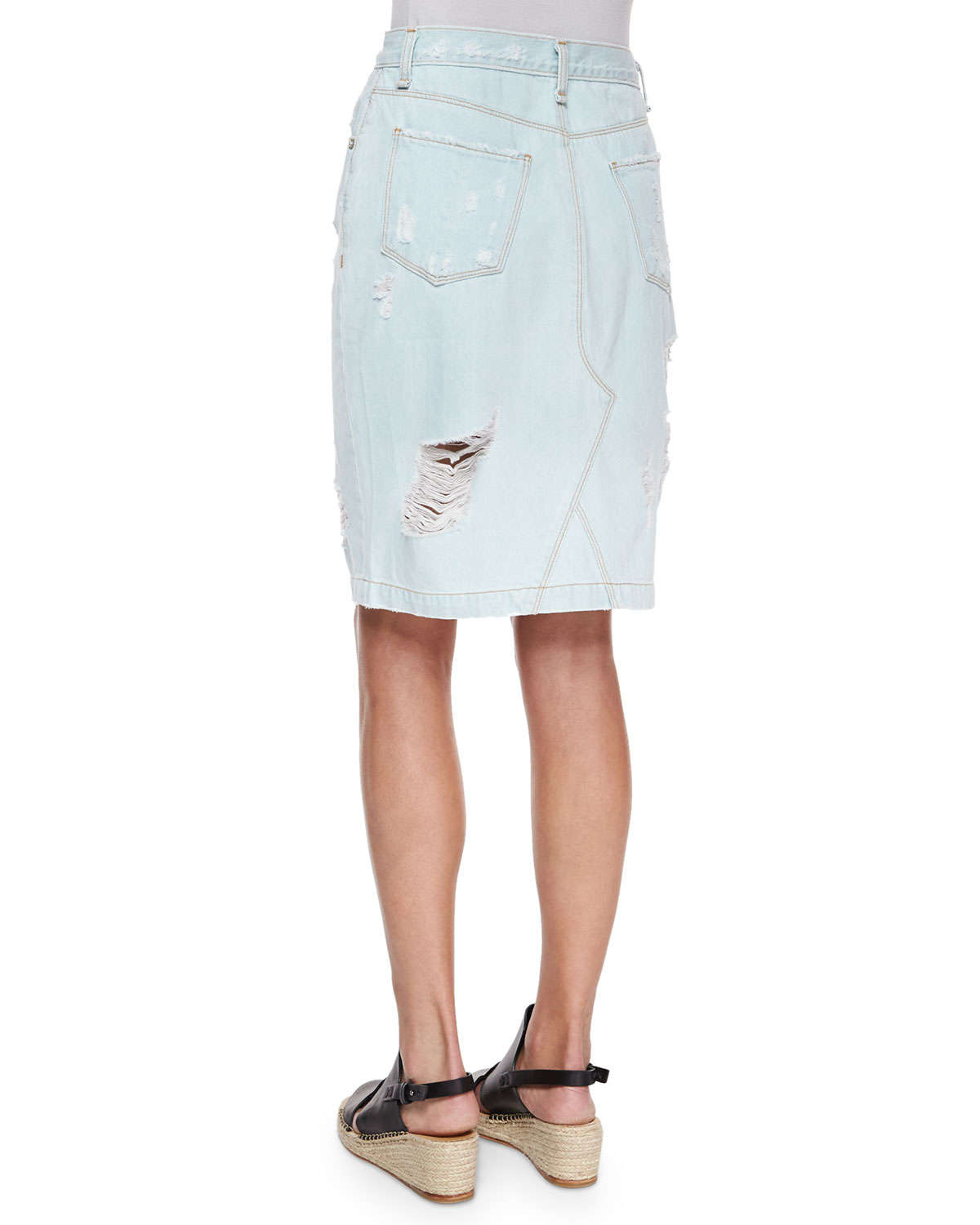 rag bone the denim skirt in blue lyst