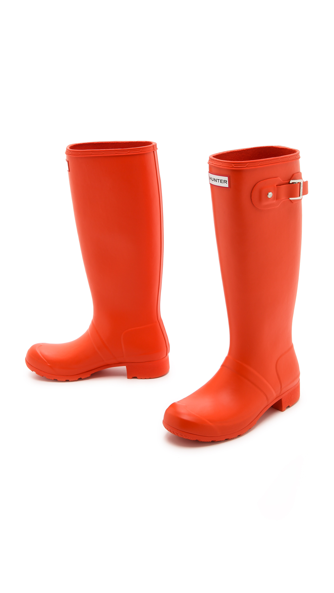 Hunter Original Packable Tour Rain Boots in Orange | Lyst