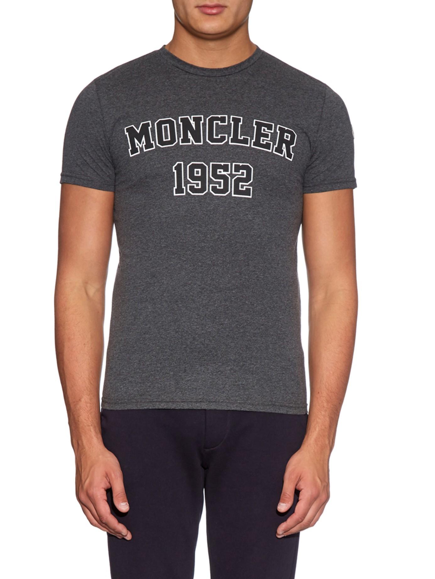 469053b1b251 Lyst - Moncler 1952 Logo-print Jersey T-shirt in Gray for Men