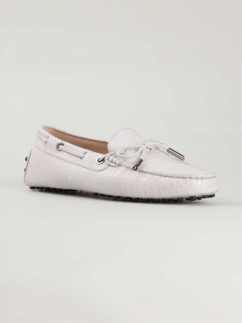 tod s gommino driving shoes in white lyst