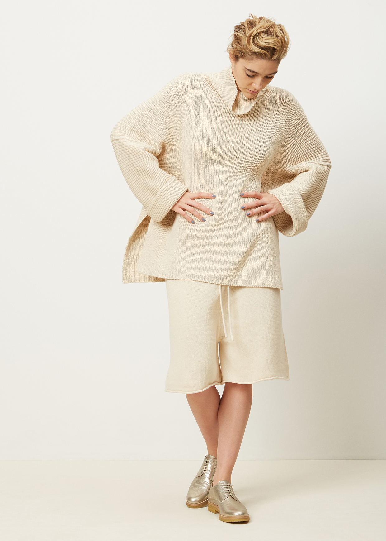 6cc9bab26d801f Lauren Manoogian Crudo Rib Turtleneck in Natural - Lyst