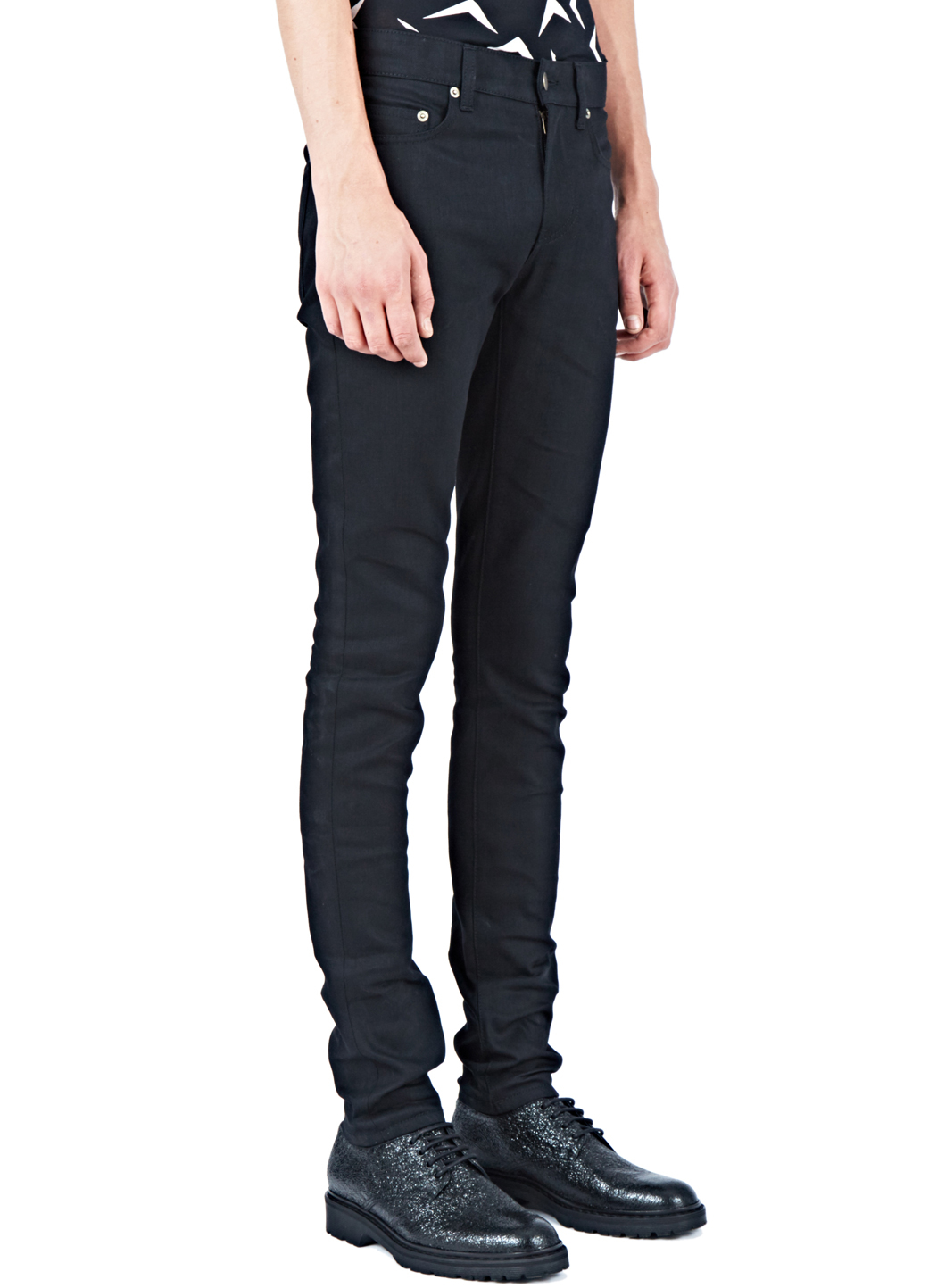 Amazon Cheap Online Cheap Sale Low Shipping raw low waisted skinny jeans - Black Saint Laurent Cool Free Shipping New Arrival Outlet 2018 Unisex sQLTB4