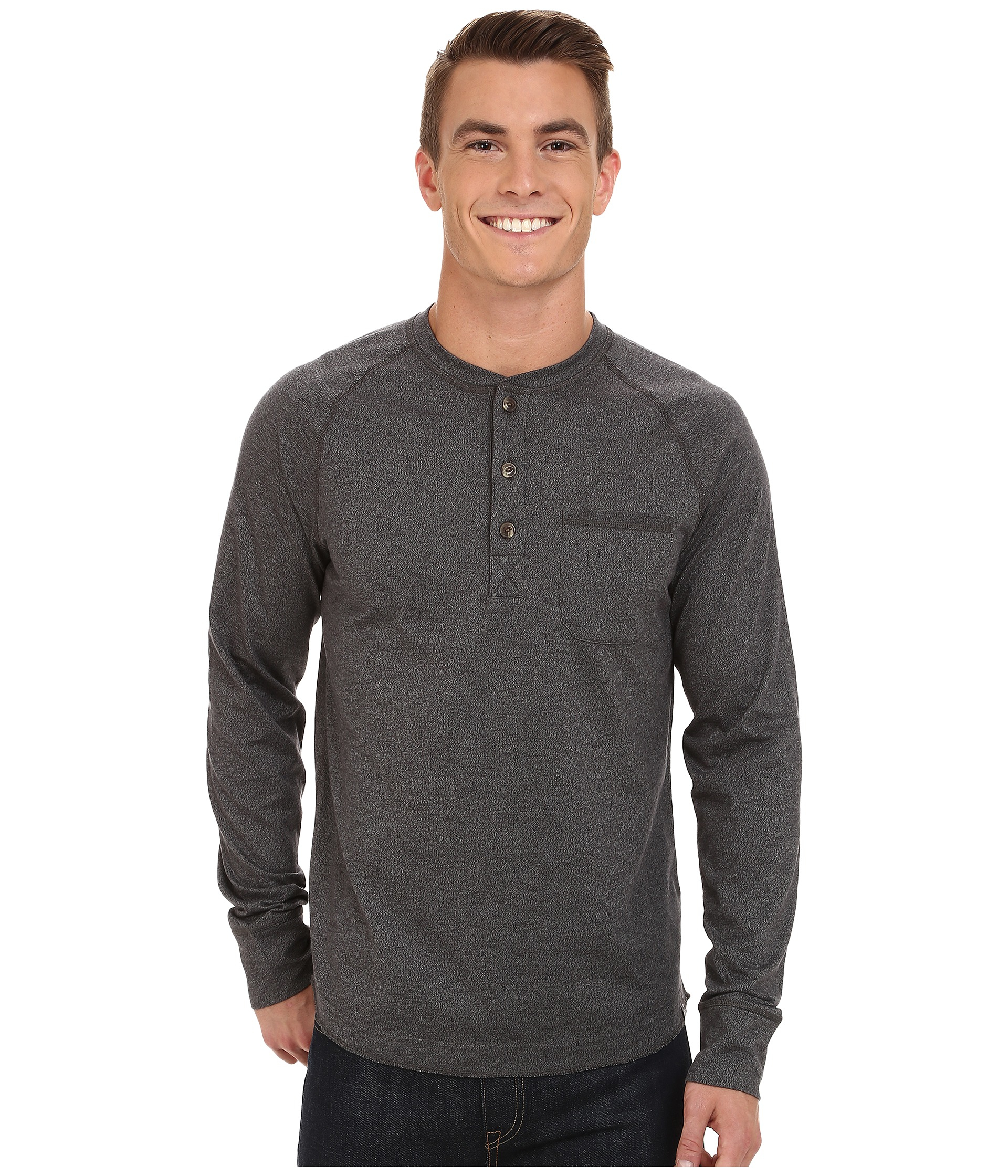 The north face black long sleeve seward henley shirt for for Black long sleeve henley shirt