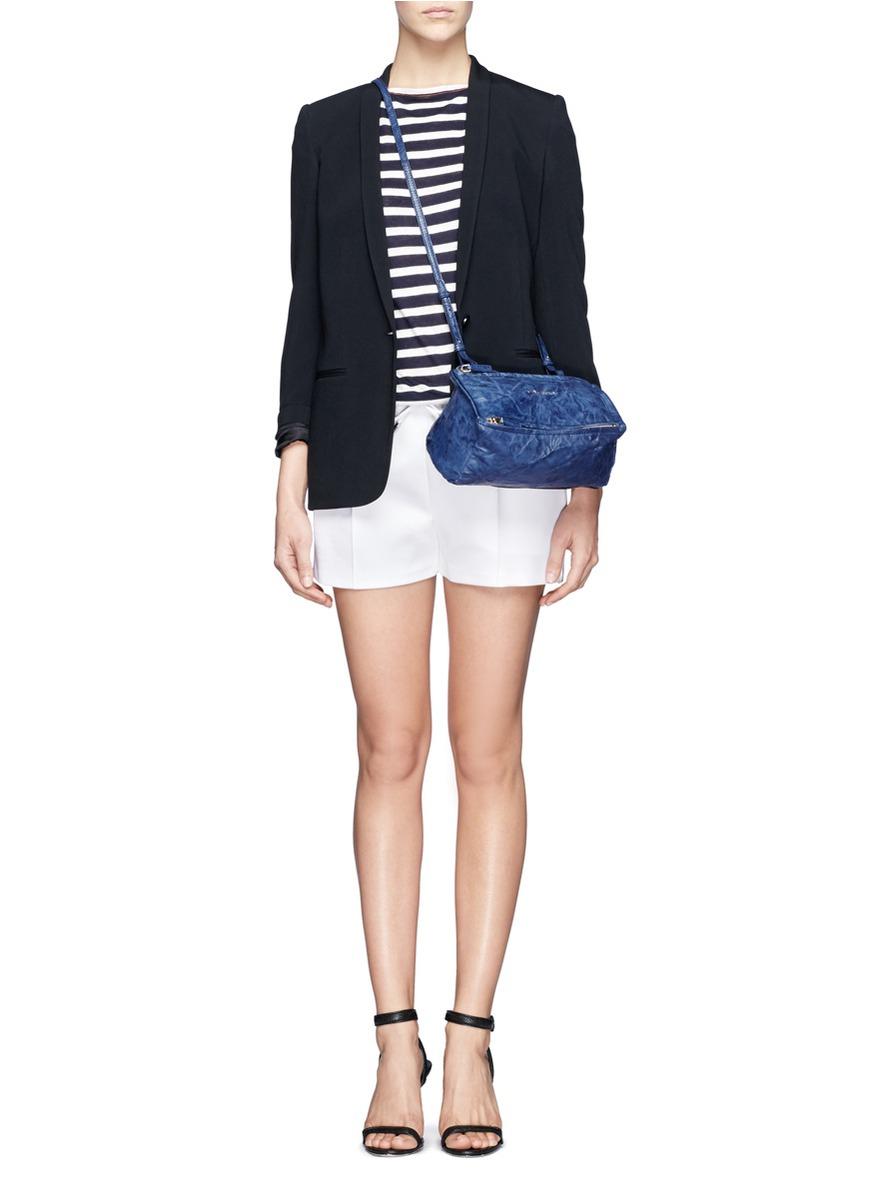 102ea30d2af Givenchy  pandora  Mini Crinkled Leather Bag in Blue - Lyst