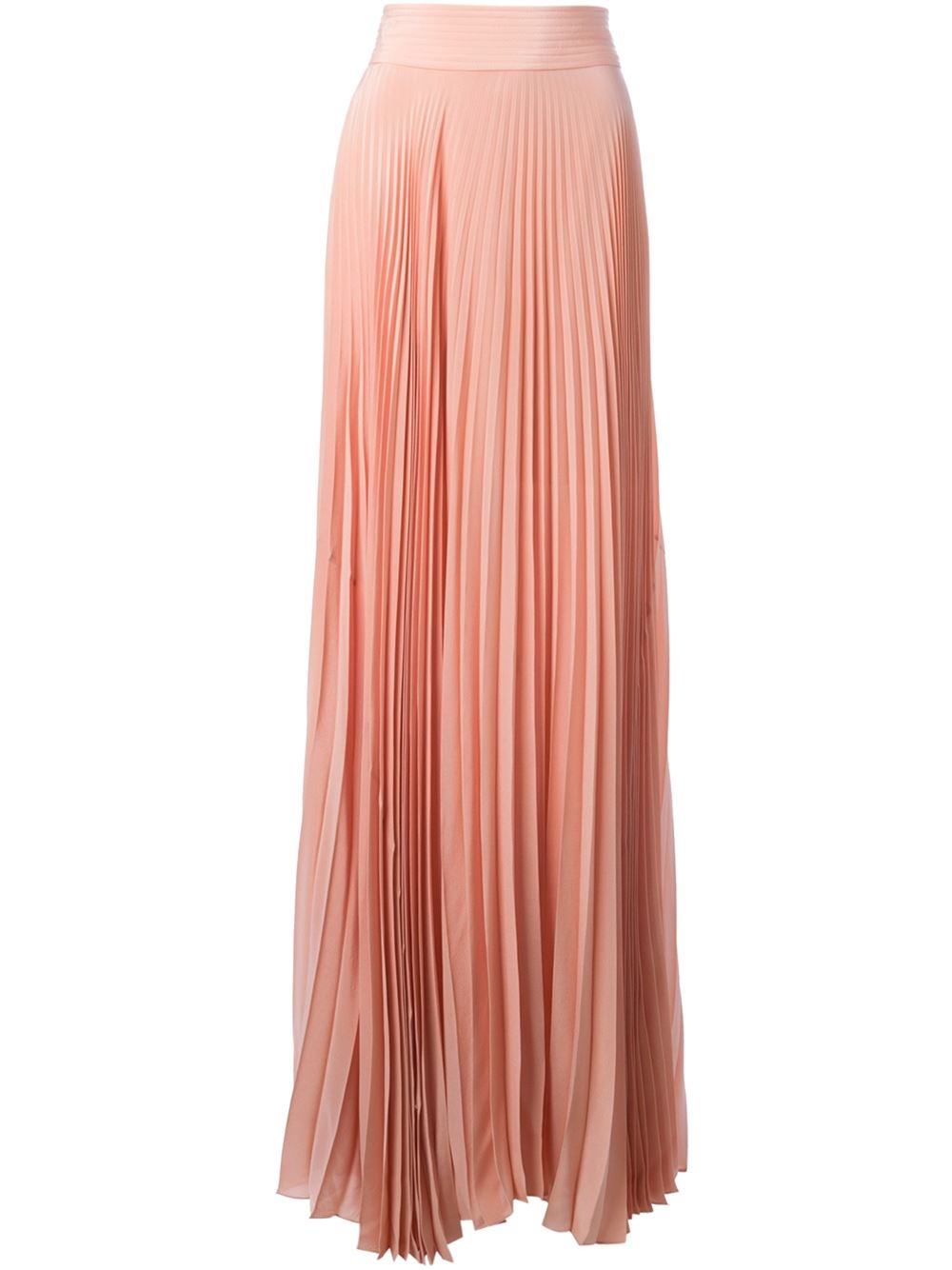 vionnet pleated skirt in pink lyst