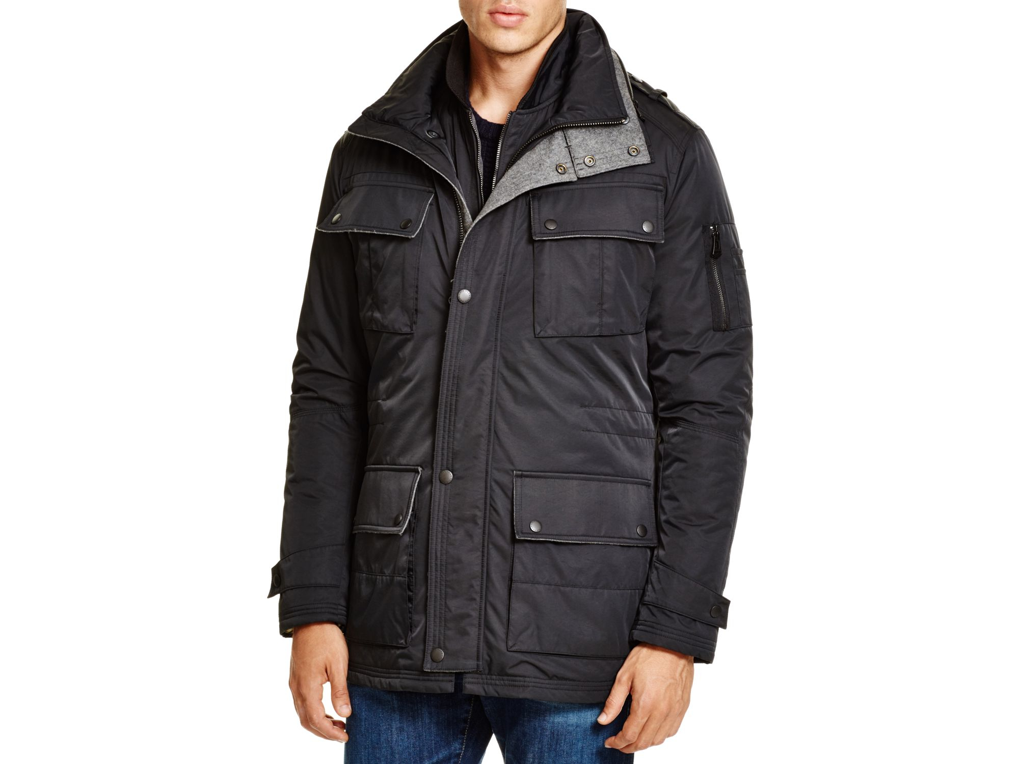 Cole Haan 3 In 1 Jacket In Black Lyst
