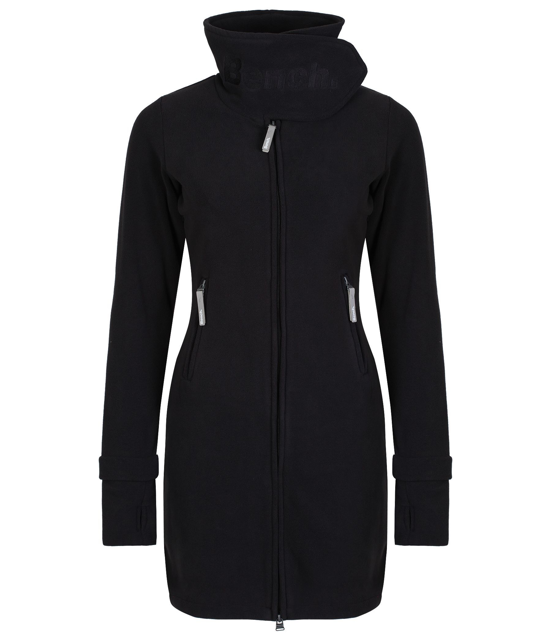 Bench Long Neck Zip Up Fleece Jacket In Black Lyst