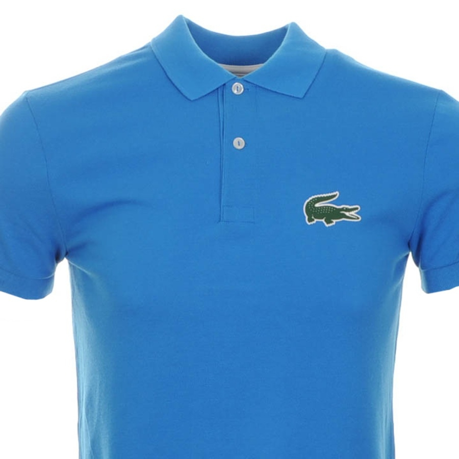 Lacoste Rubber Croc Polo T Shirt Blue In Blue For Men Lyst