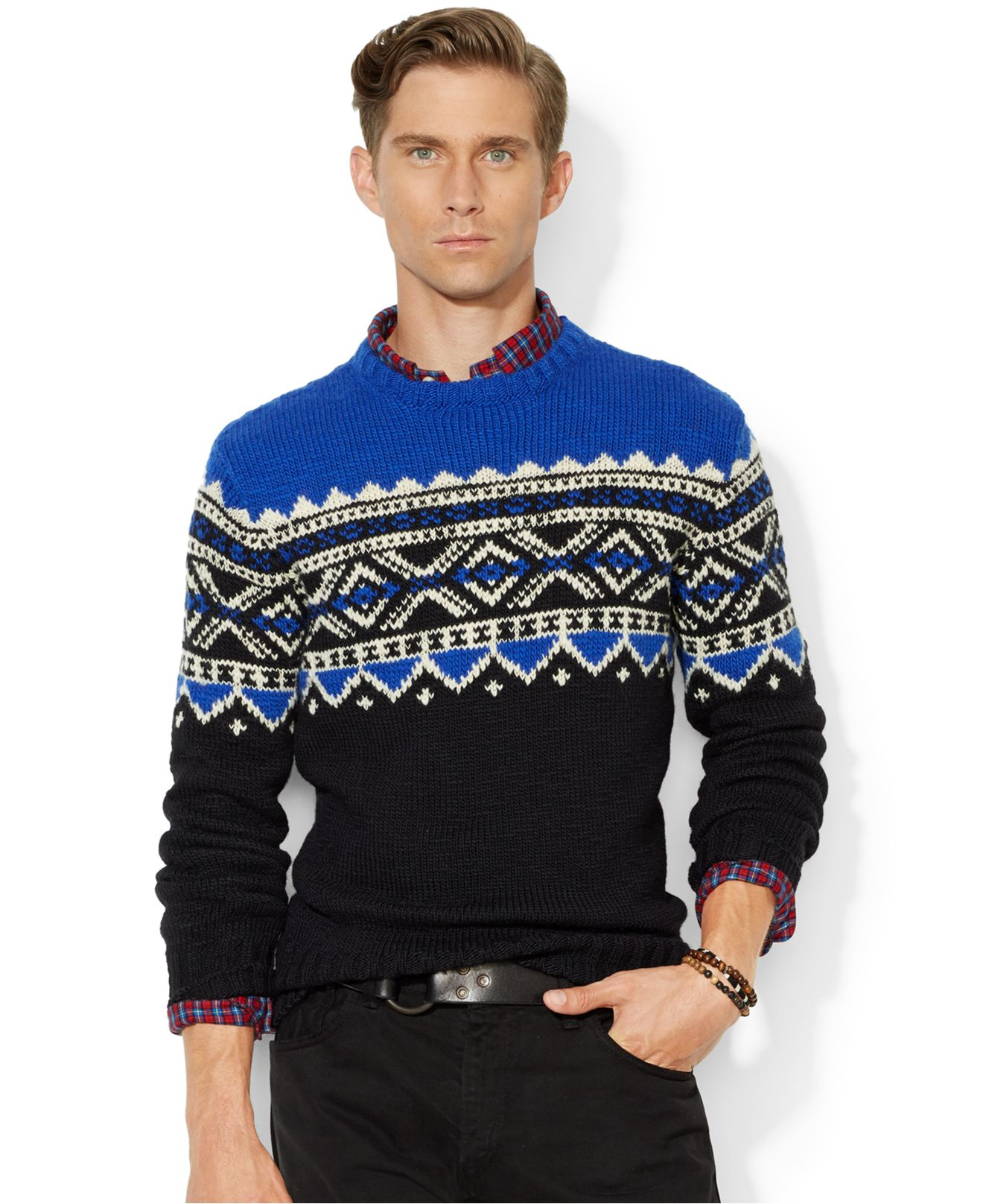 This nordic mens wool sweater is exceptionally warm as it is made from % pure new wool. The main body is knitted using a regular knitting stitch5/5.