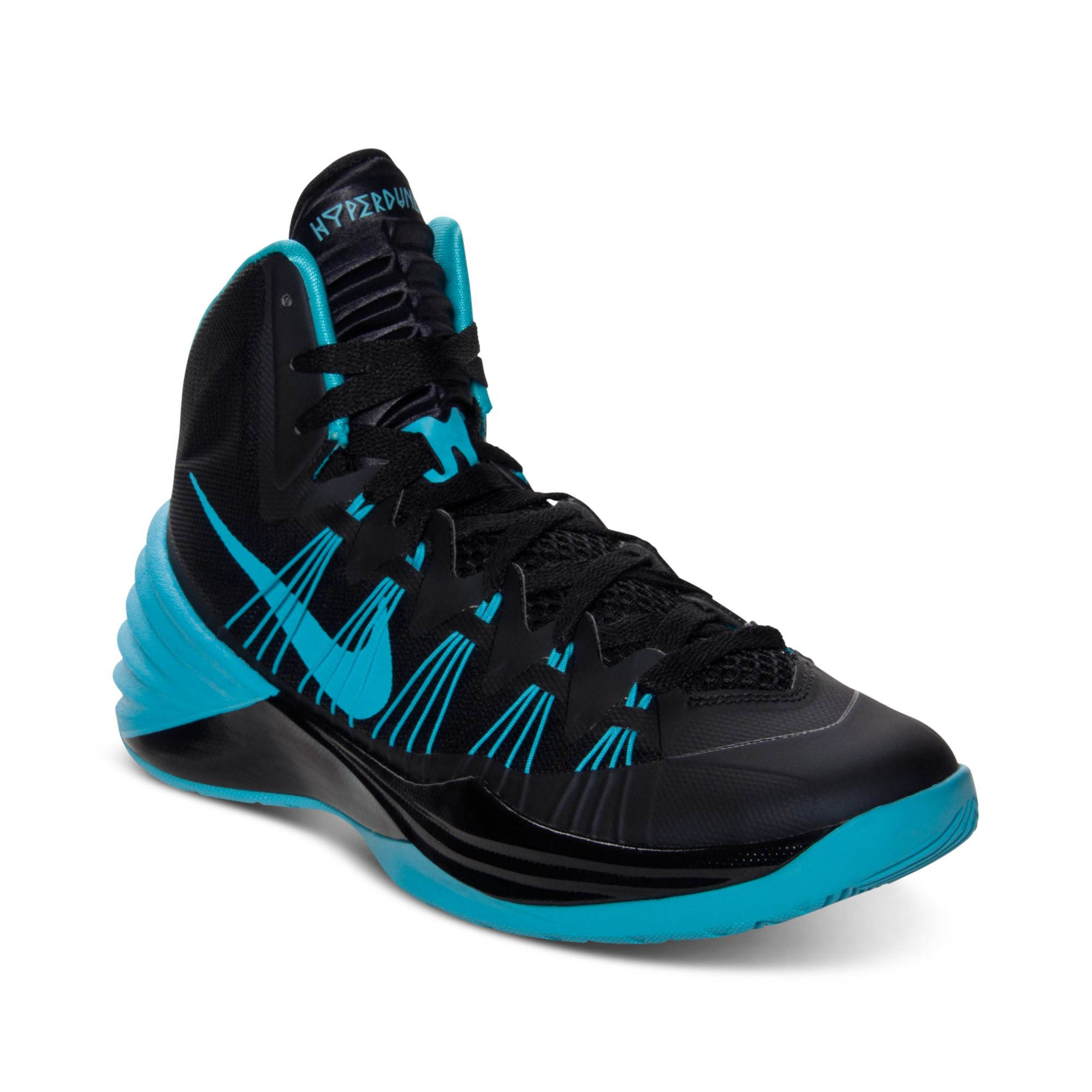 the latest 8f22a 2ffd9 Nike Mens Hyperdunk Basketball Sneakers From Finish Line in Black ...