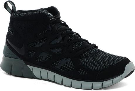canada nike free run 2 mid high top trainers black a3820 94b8f