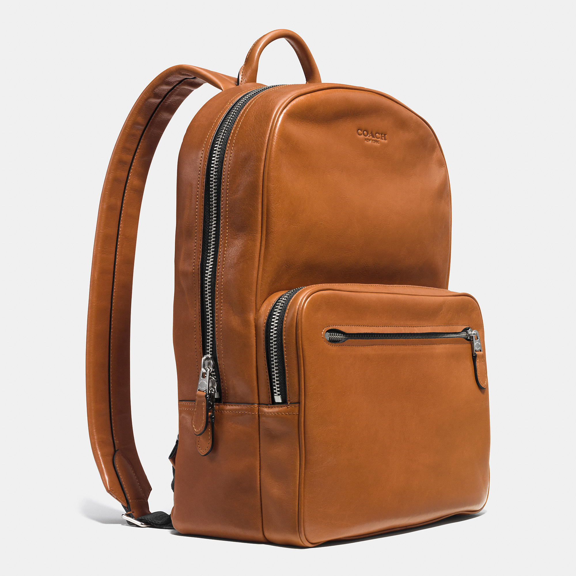 Lyst - COACH Hudson Backpack In Sport Calf Leather in Brown for Men 56bbba6891e43