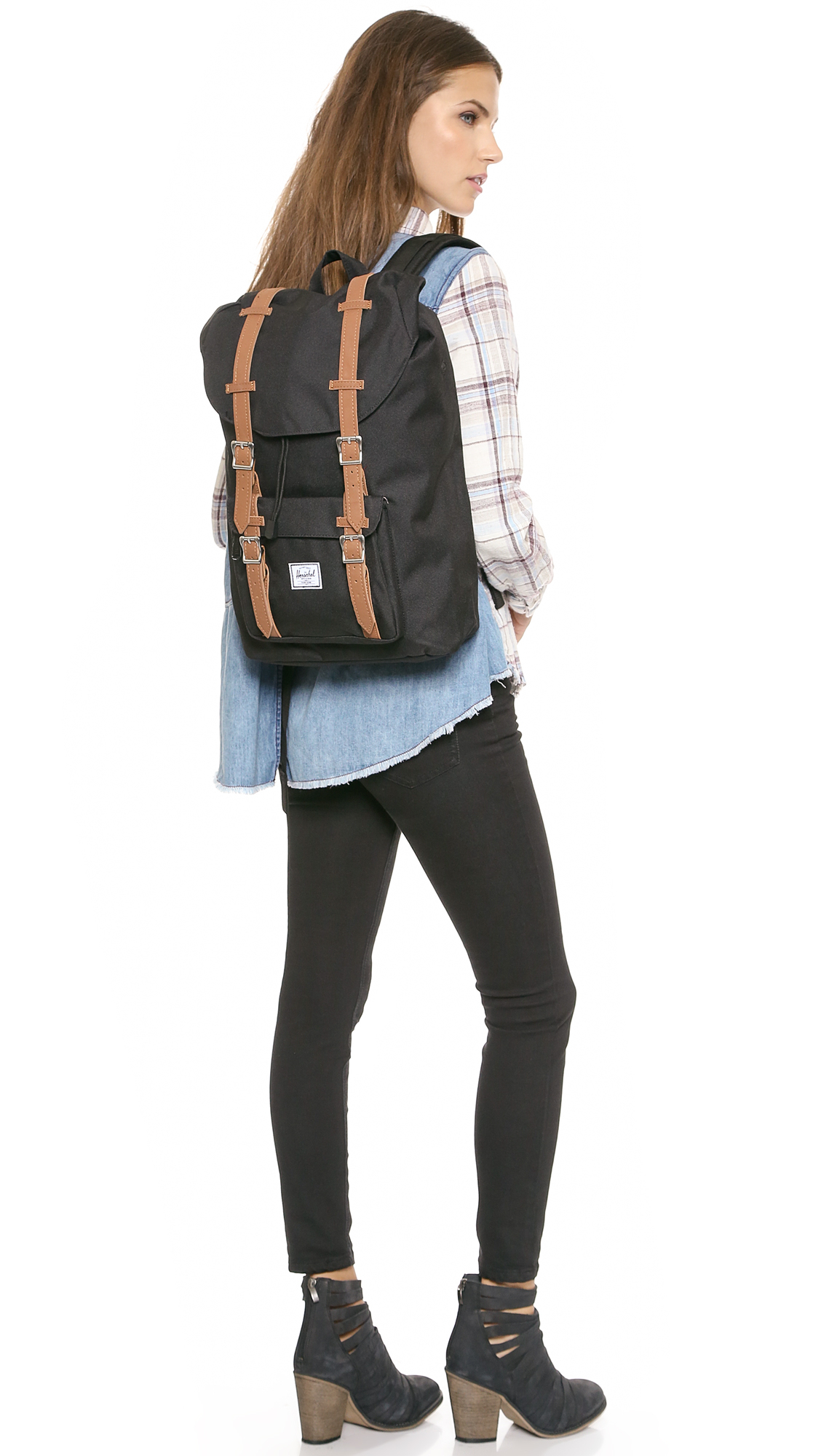 lyst herschel supply co little america mid backpack. Black Bedroom Furniture Sets. Home Design Ideas