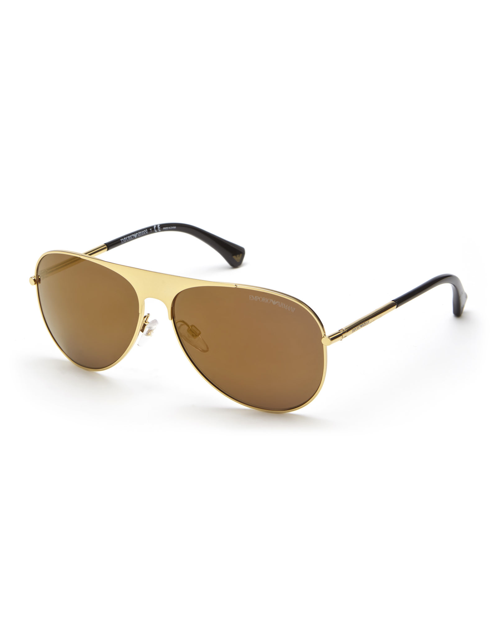 9b06bf3b57c74 Emporio Armani Gold-Tone Ea2003 Aviator Sunglasses in Natural for ...
