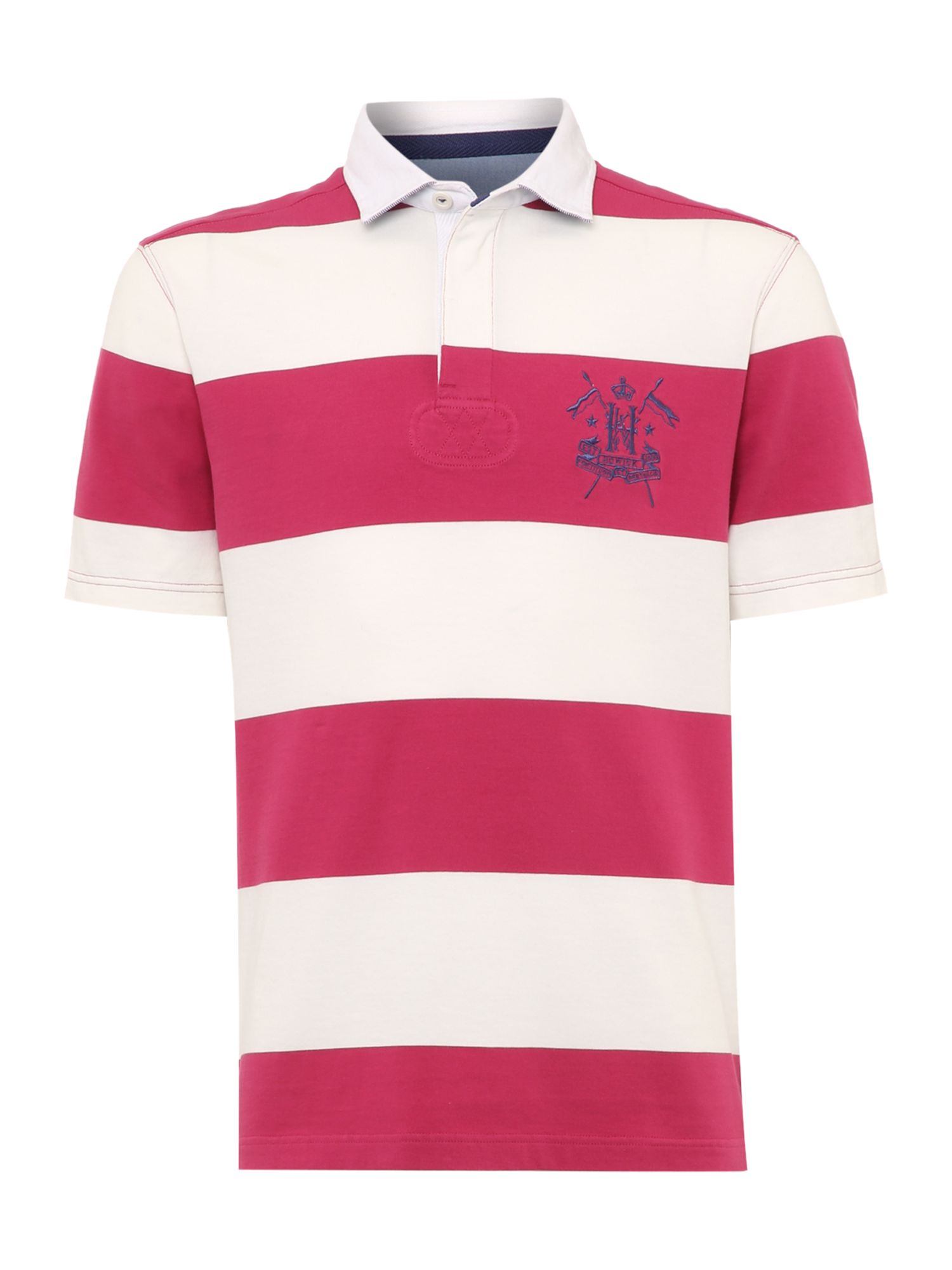 8cedeff69c5 Howick California Block Stripe Short Sleeve Rugby in Red for Men | Lyst