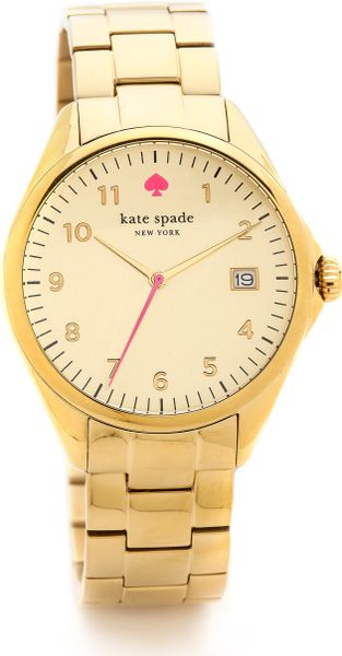 Kate Spade Seaport Grand Watch in Gold - Lyst