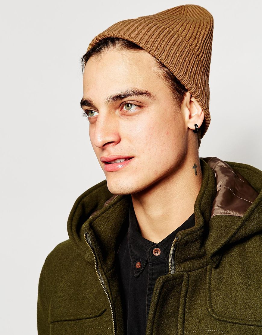 Lyst - ASOS Slouchy Beanie In Camel in Natural for Men 89e0d78b4c4