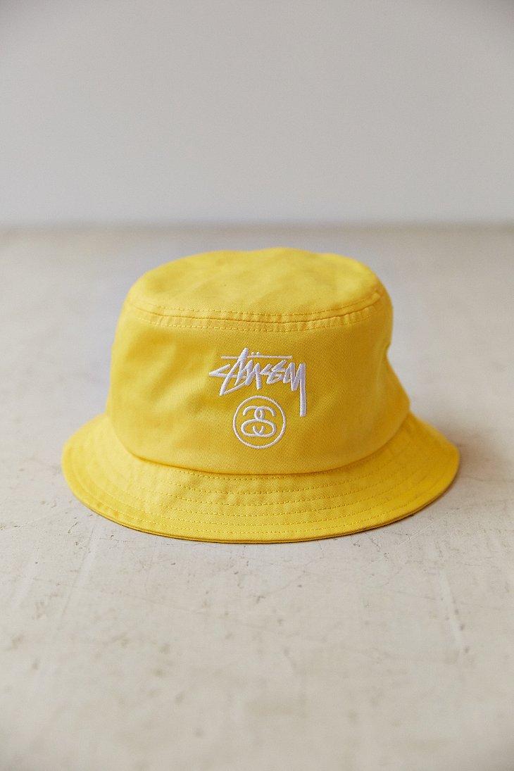 Stussy Stock Lock Bucket Hat in Yellow for Men - Lyst 096a759837e