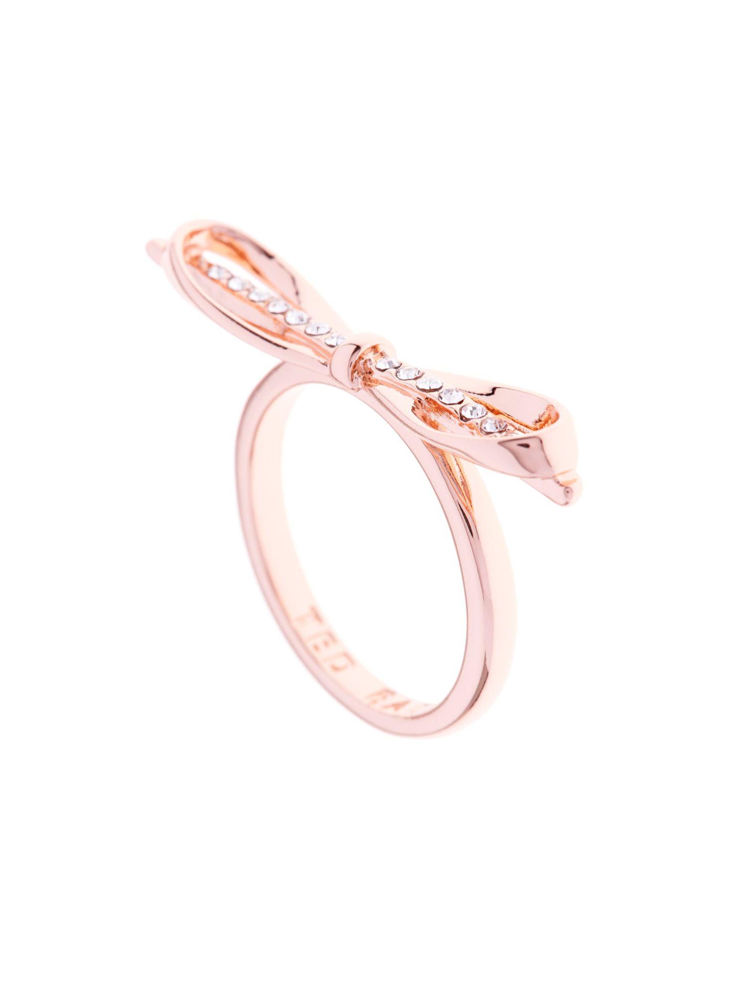 Ring Bow Il Gioiello Personalizzabile Con La Tua Nailart: Ted Baker Shilo Sleek Bow Ring In Pink