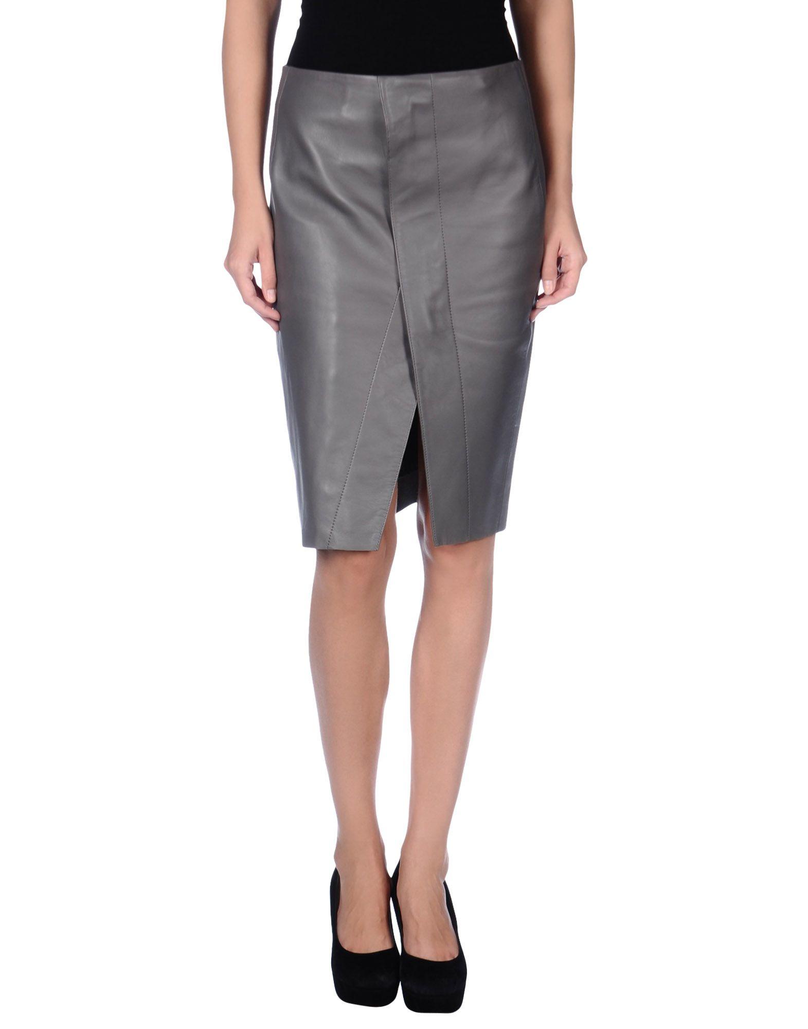 Lyst Acne Studios Knee Length Skirt In Gray