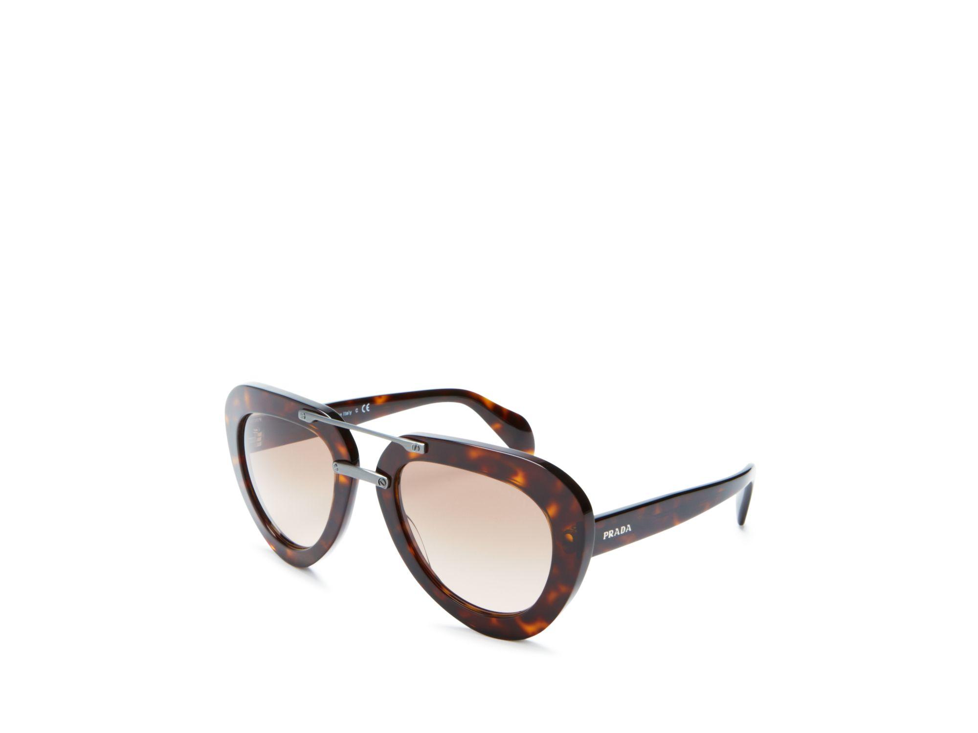 34e376e7f2f3 Prada Womens Sunglasses Aviator