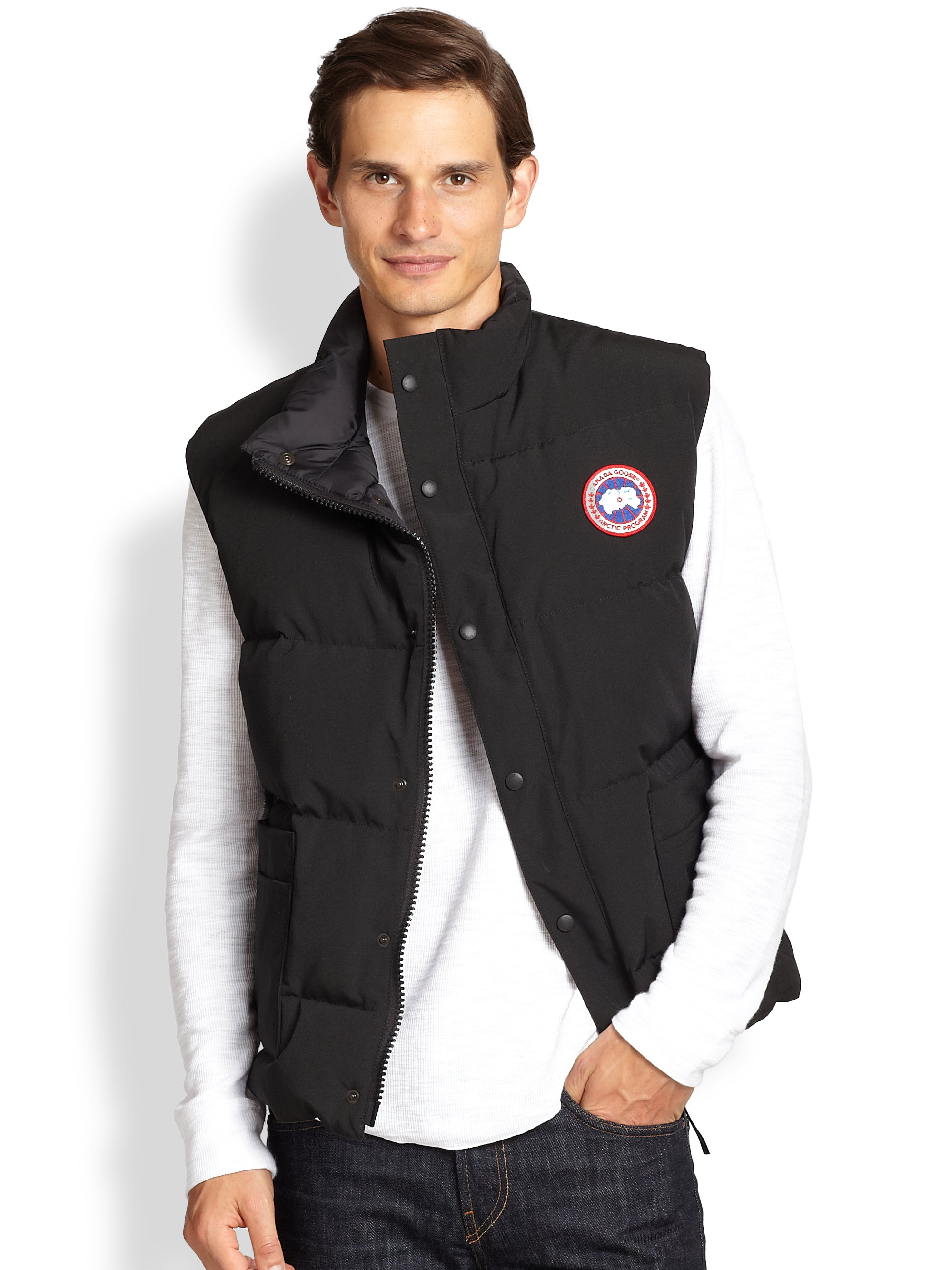 Canada Goose jackets outlet store - Canada goose Freestyle Puffer Vest in Black for Men | Lyst