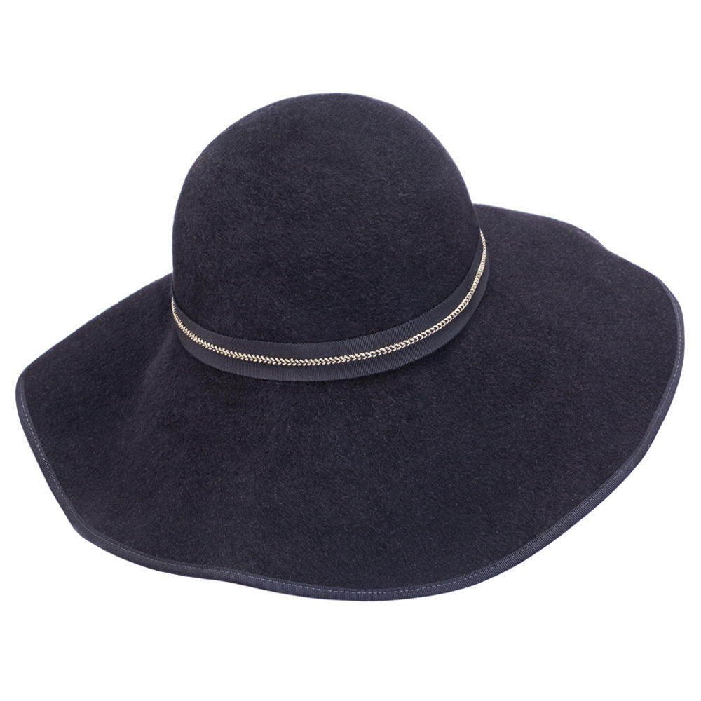 ff02ff56724 Mademoiselle Slassi The Chicago Big Black Floppy Hat in .
