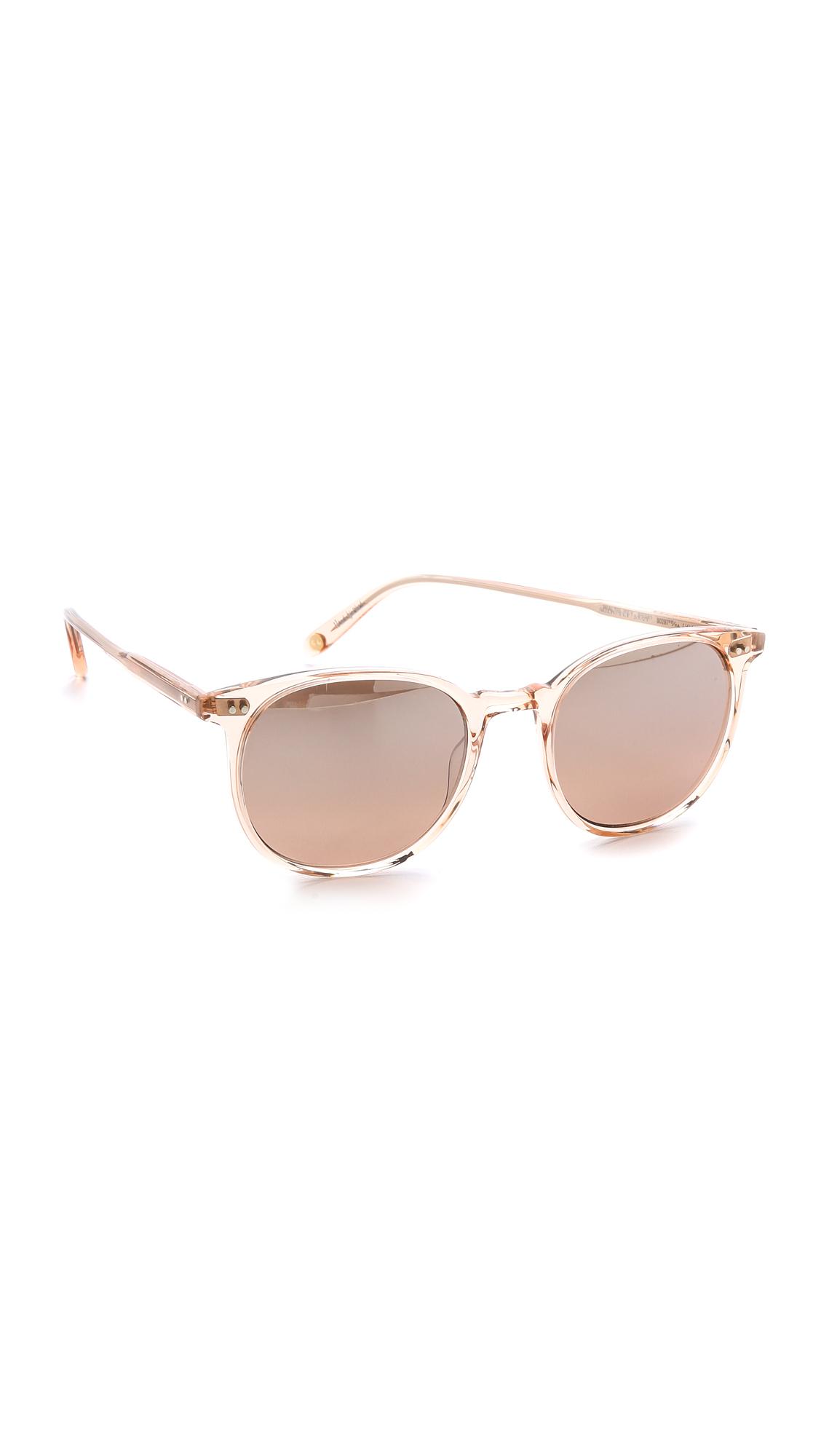 Lyst Garrett Leight Rialto Mirrored Sunglasses Pink