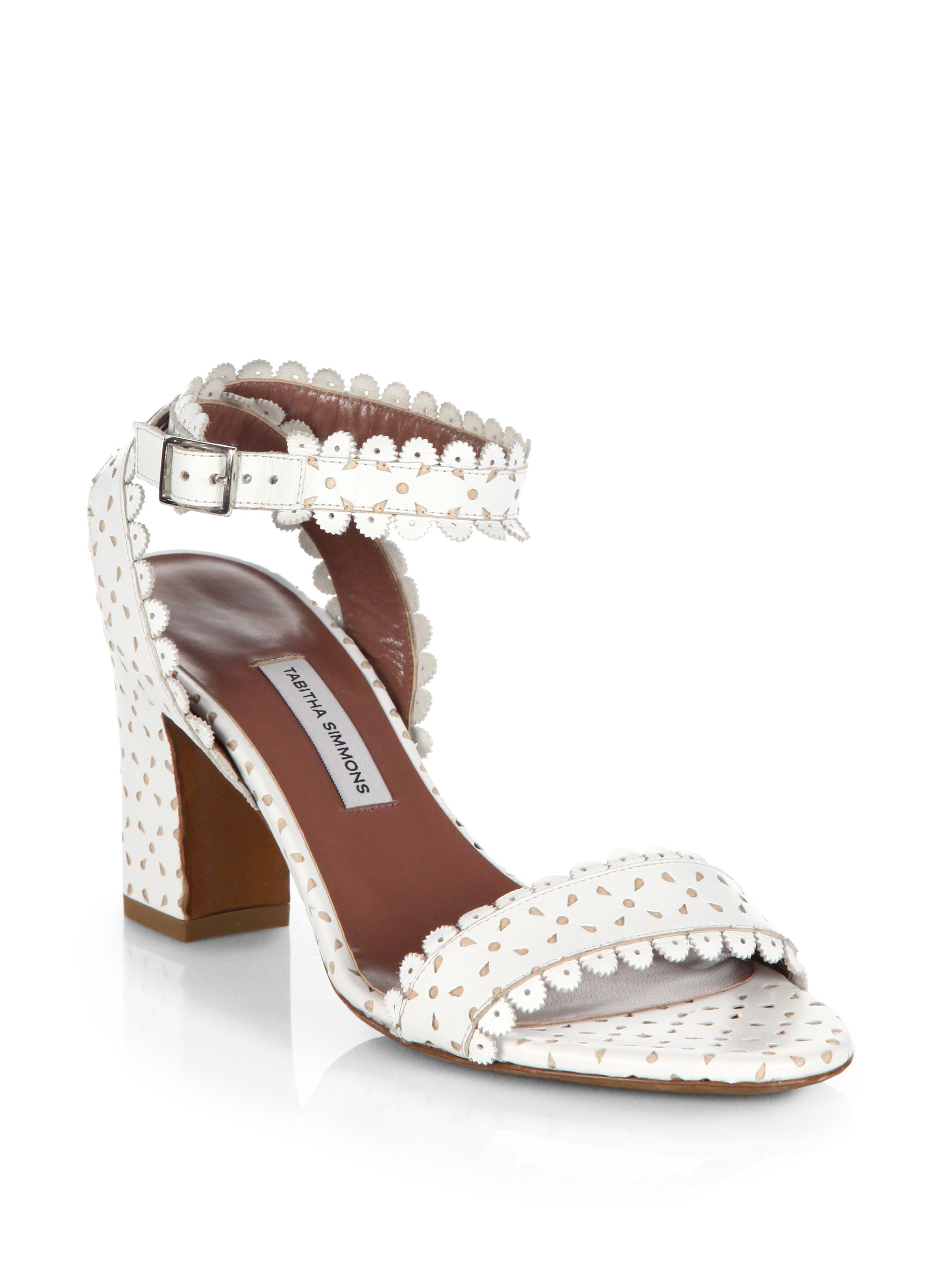 Tabitha Simmons Leticia Perforated Leather Sandals In