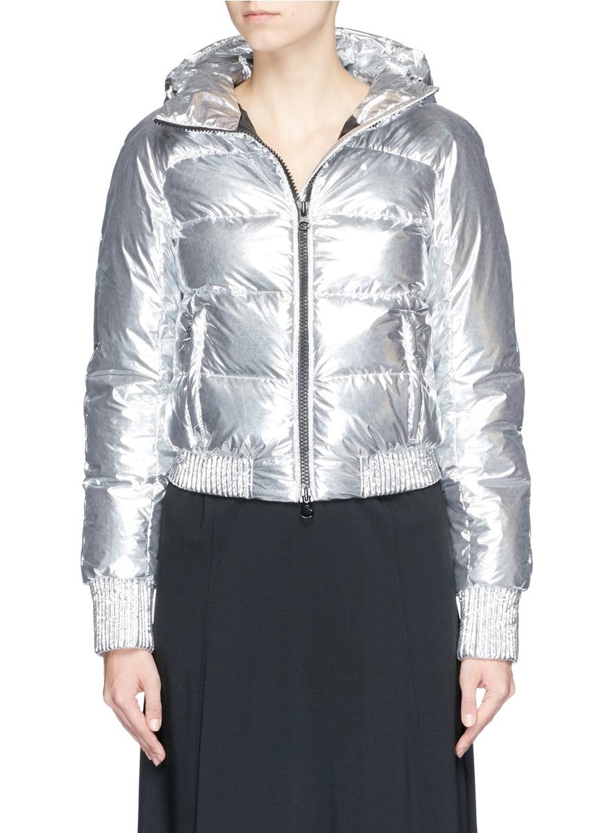 Lyst Marcelo Burlon Lolen Metallic Nylon Down Jacket