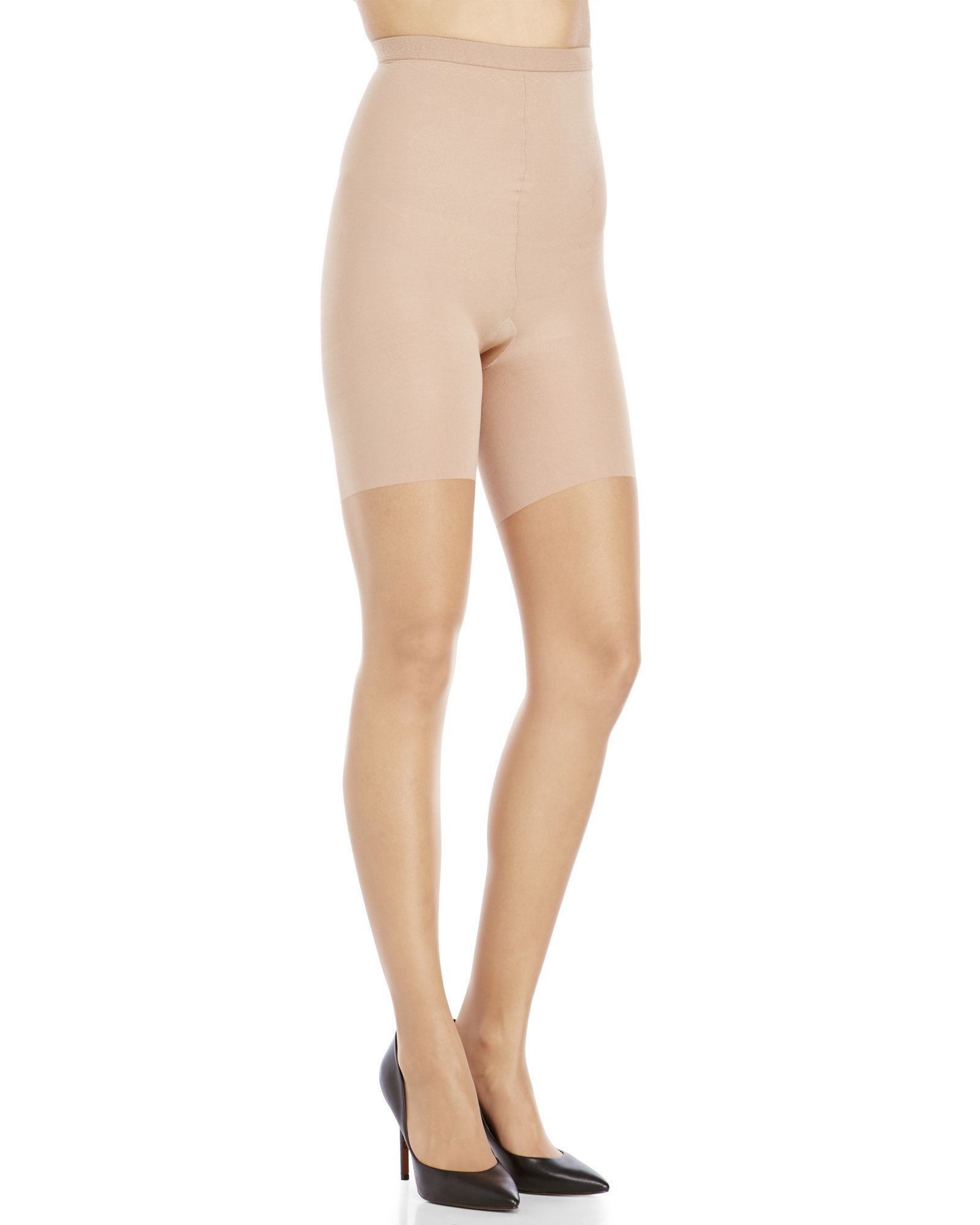 d53287406df14 Lyst - Spanx High-Waist Sheer Tights in Natural