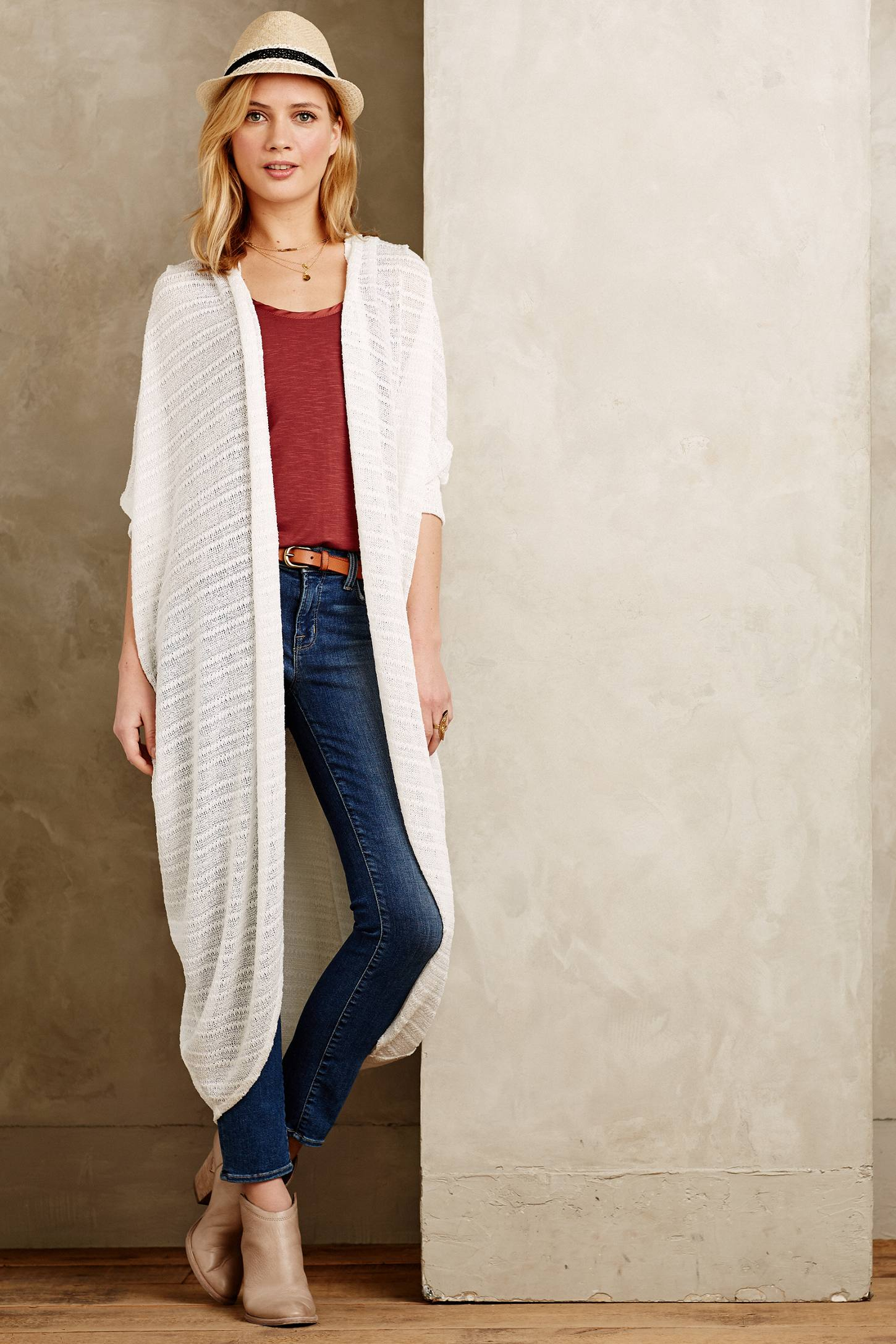 Sunday in brooklyn Blume Duster Cardigan in White | Lyst