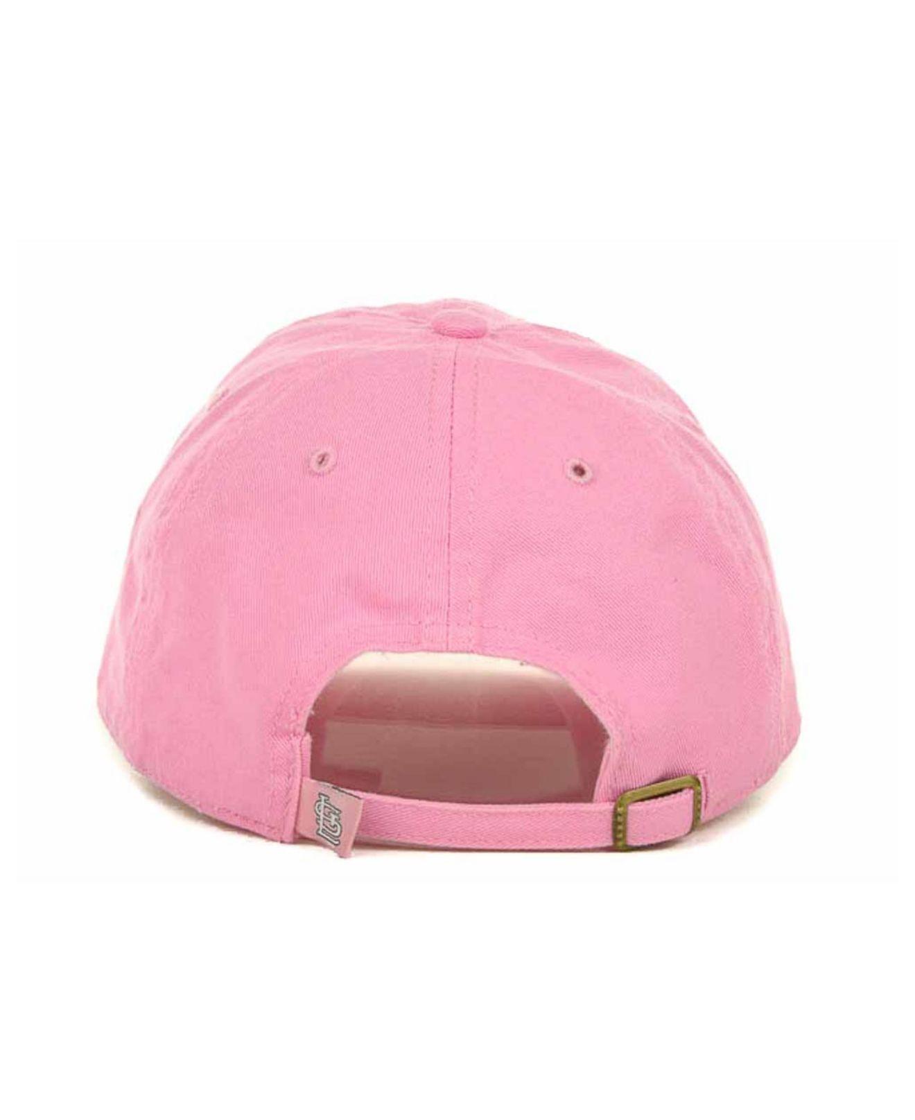 online store 75d89 e1d37 ... shopping lyst 47 brand kids st. louis cardinals clean up cap in pink  for men