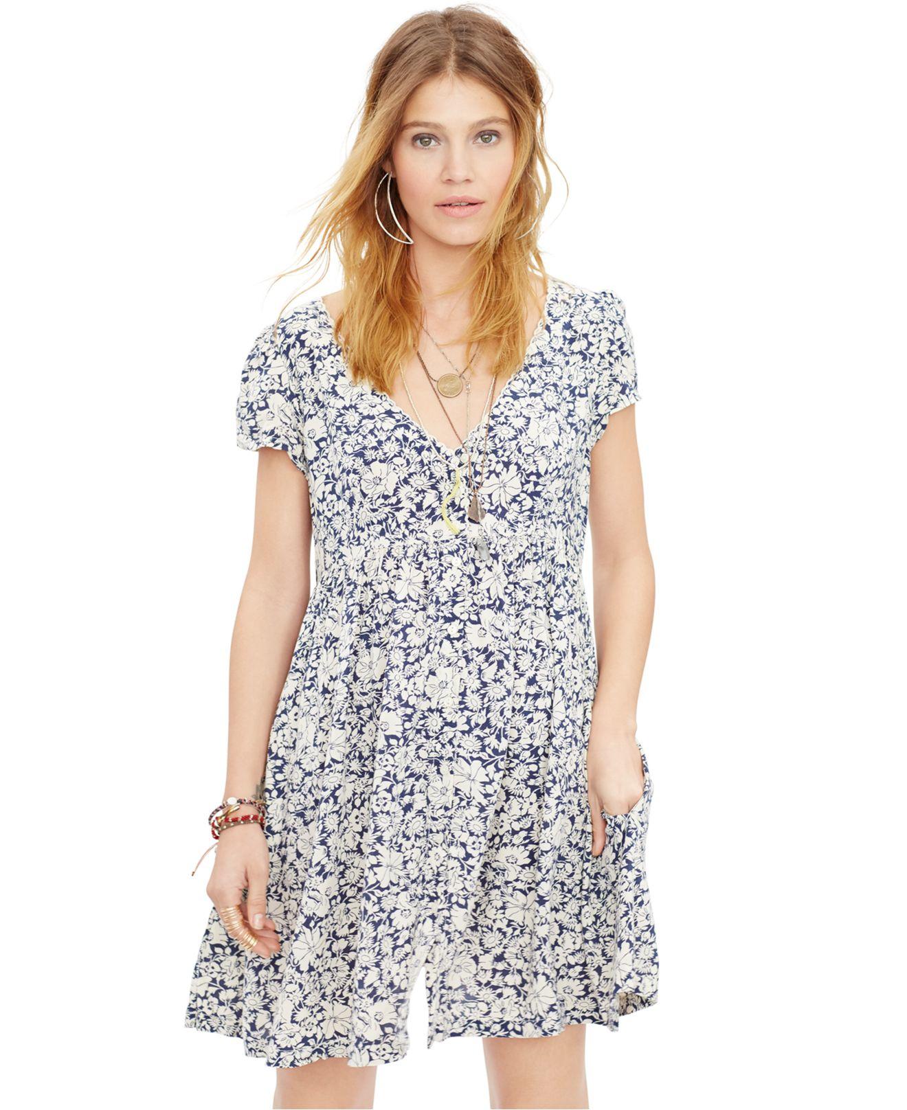 Lyst Denim & Supply Ralph Lauren Floral print Babydoll Dress
