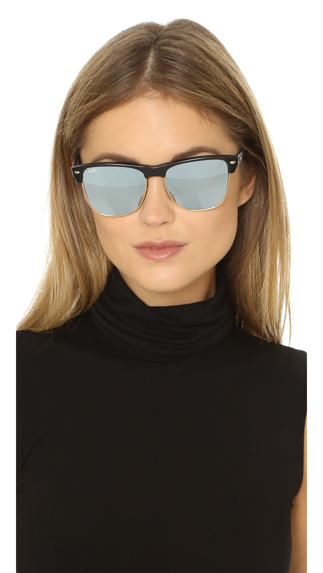 ray ban mirrored clubmaster sunglasses  gallery. previously sold at: shopbop · women's clubmaster sunglasses women's ray ban clubmaster women's mirrored sunglasses