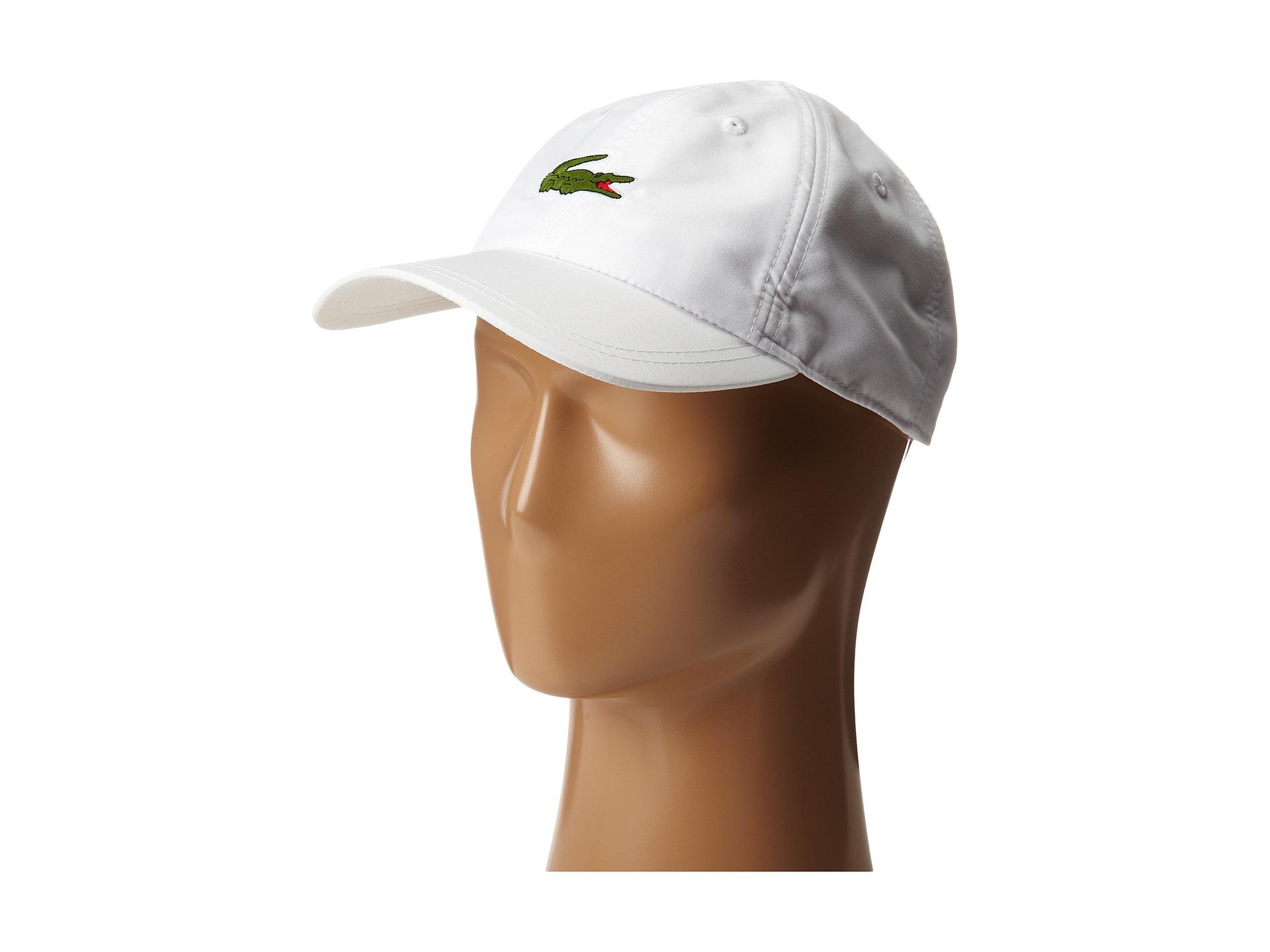 37a47e8746f Lyst - Lacoste Poly 5 Cm Croc Sport Cap in White for Men