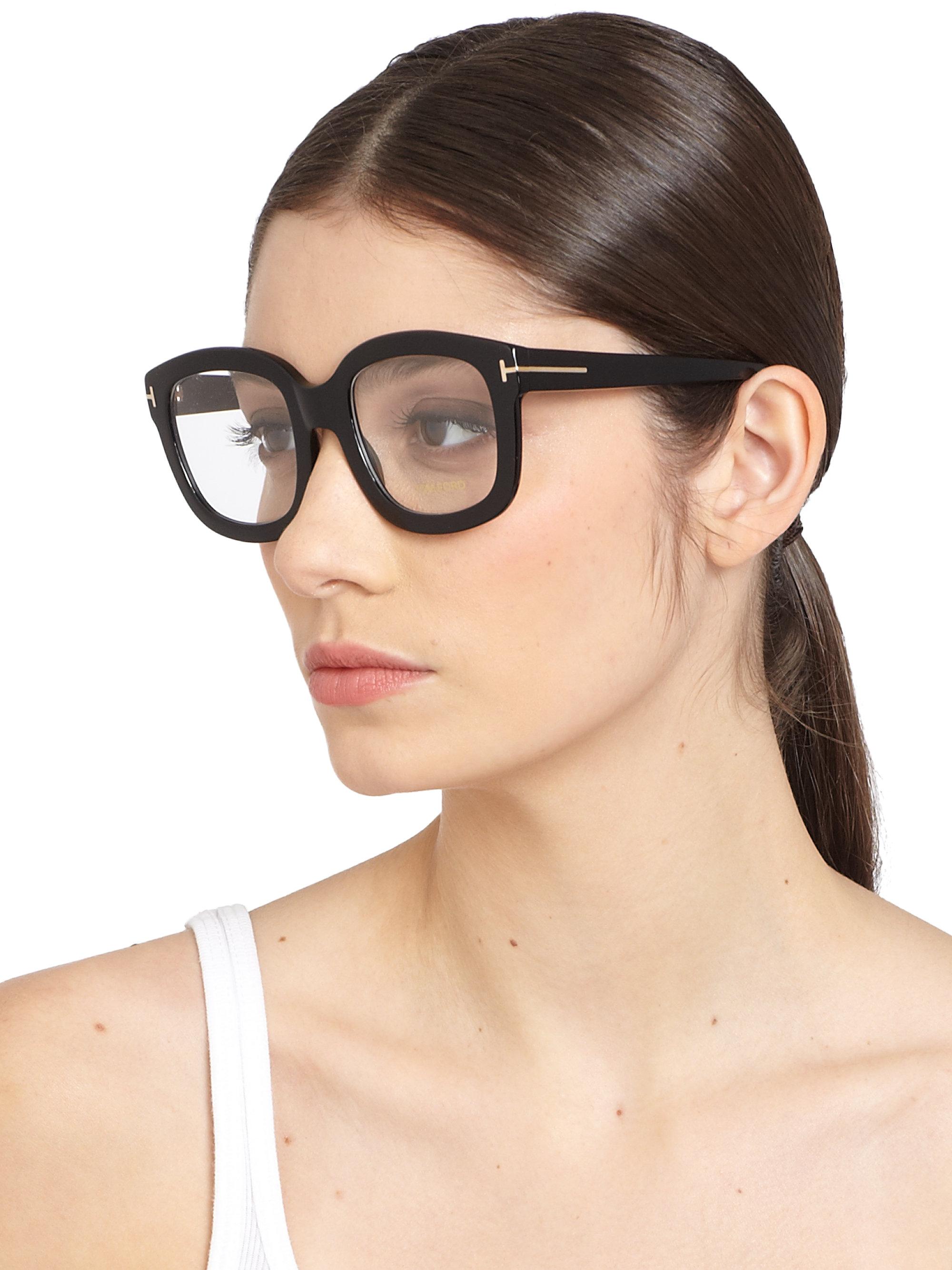 58876b1da6 Lyst tom ford oversized acetate eye glasses in black jpg 2000x2667 Tom ford  cat eye glasses
